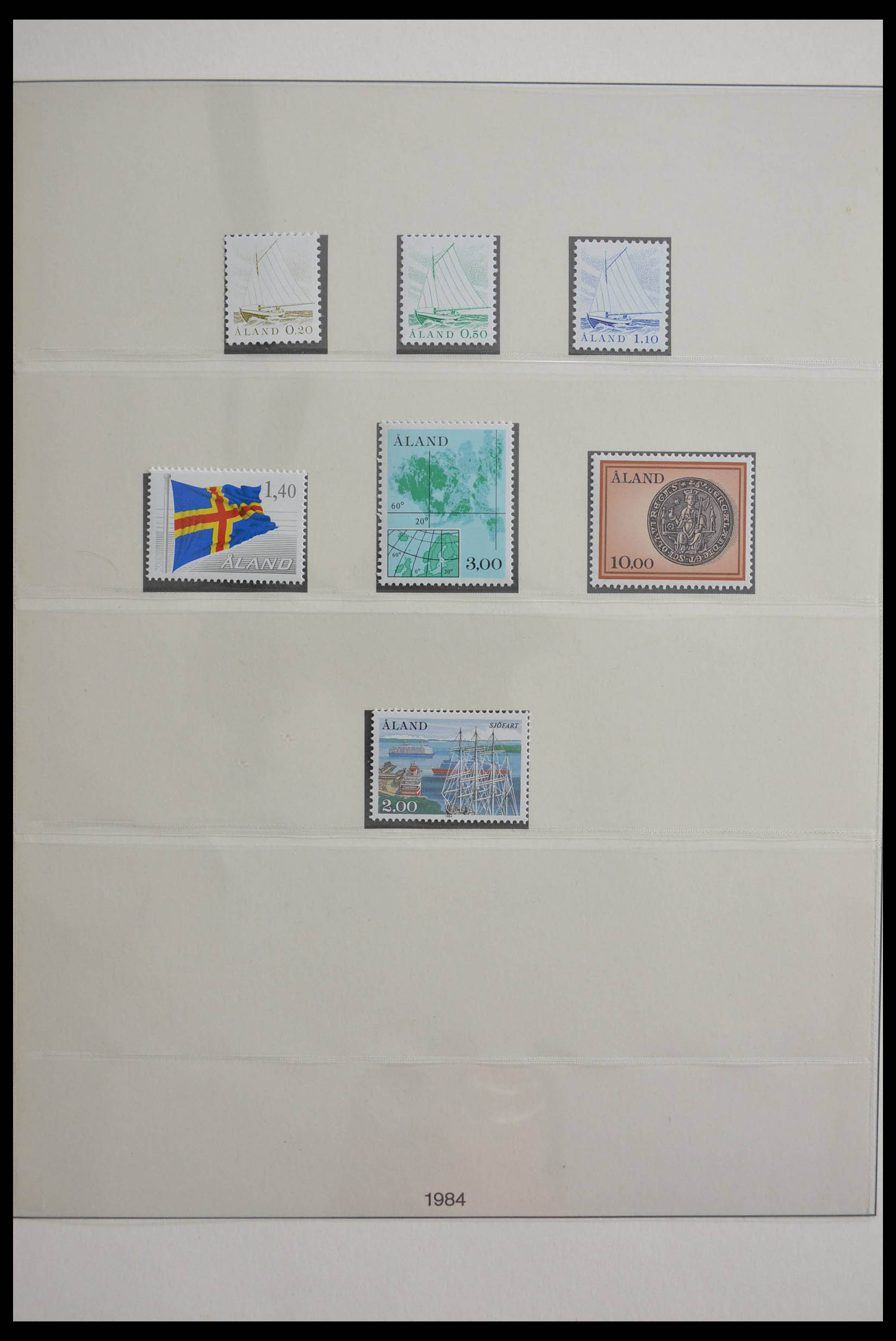 28584 001 - Stamp collection 28584 Aland 1984-2011.