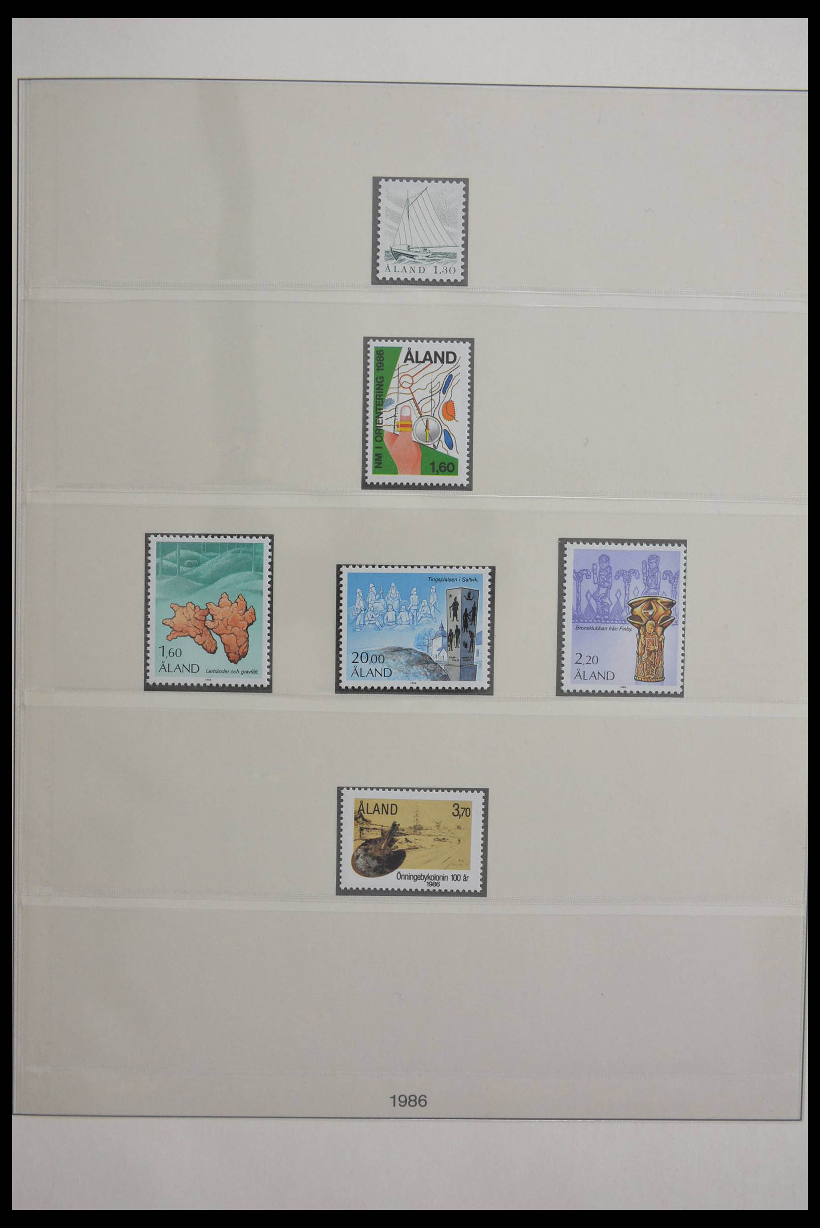 28584 003 - Stamp collection 28584 Aland 1984-2011.