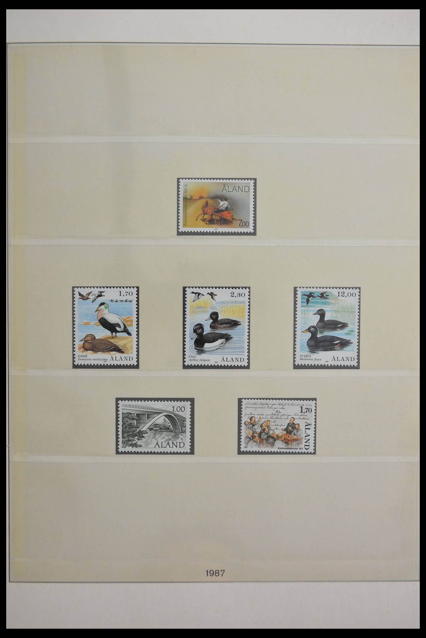 28584 004 - Stamp collection 28584 Aland 1984-2011.
