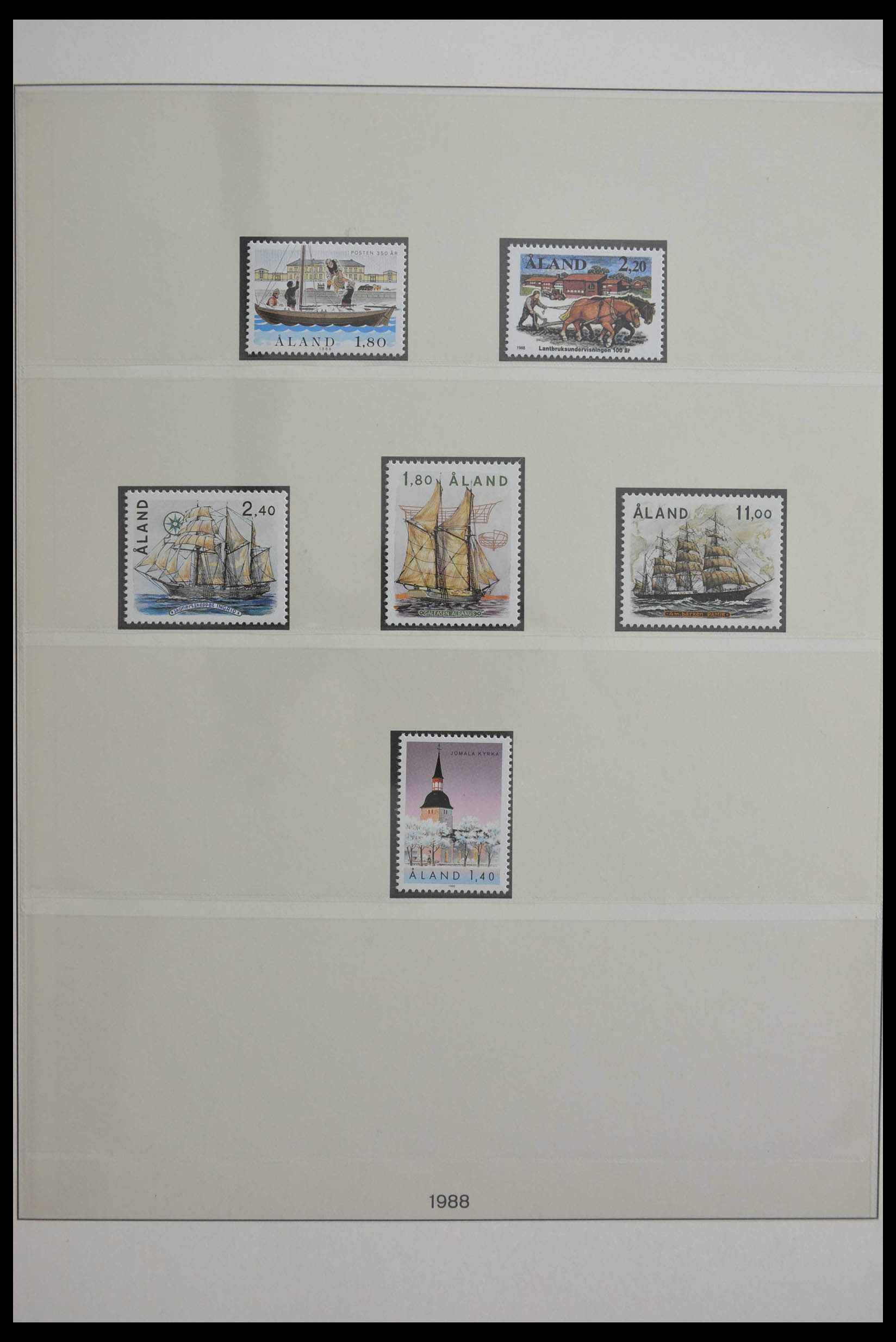 28584 005 - Stamp collection 28584 Aland 1984-2011.