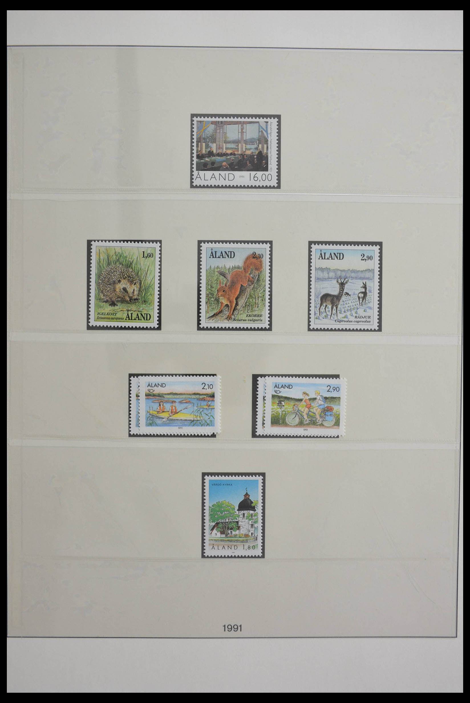 28584 008 - Stamp collection 28584 Aland 1984-2011.