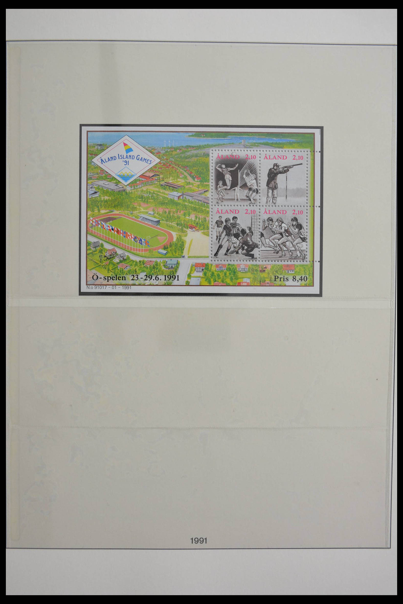 28584 009 - Stamp collection 28584 Aland 1984-2011.