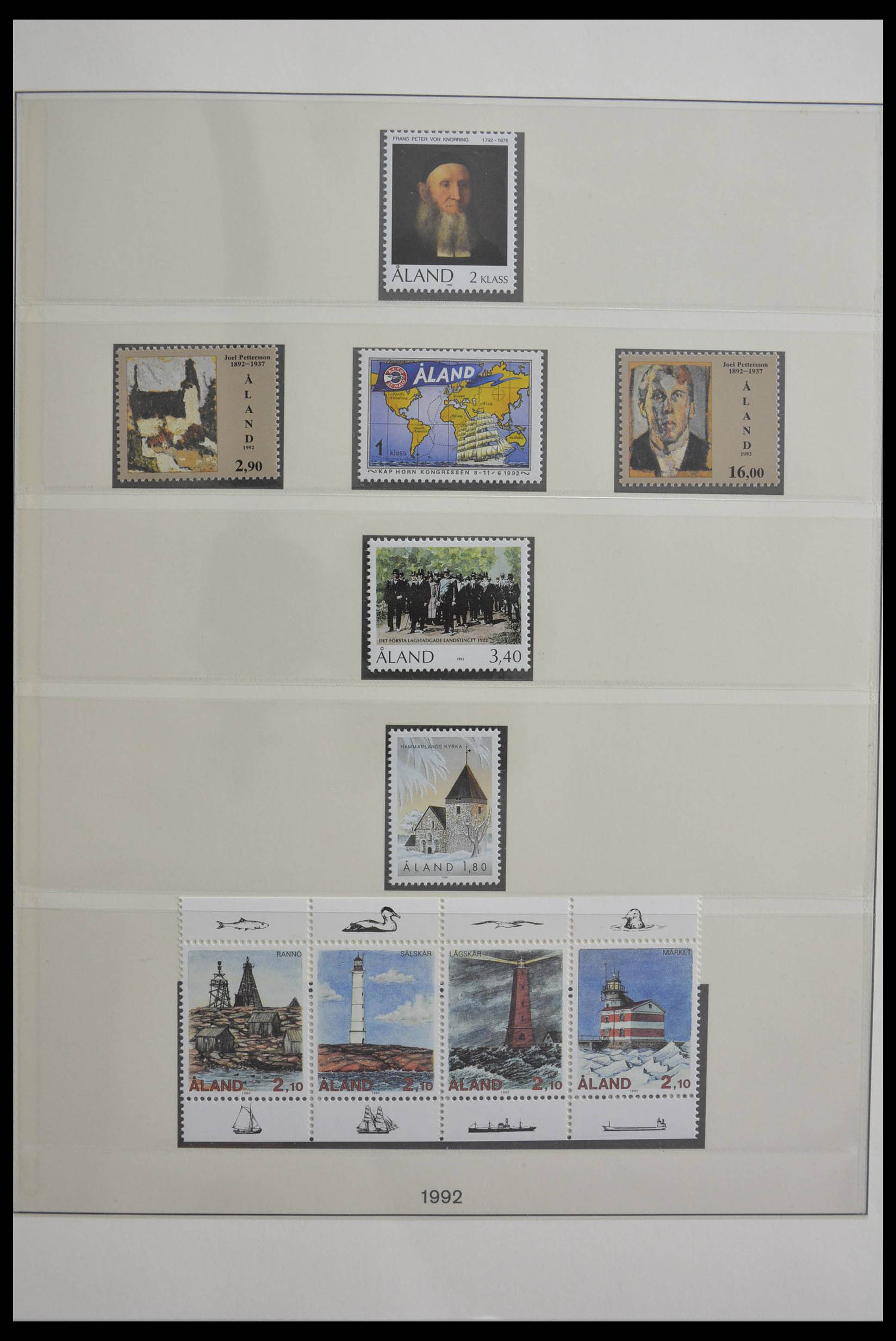 28584 010 - Stamp collection 28584 Aland 1984-2011.