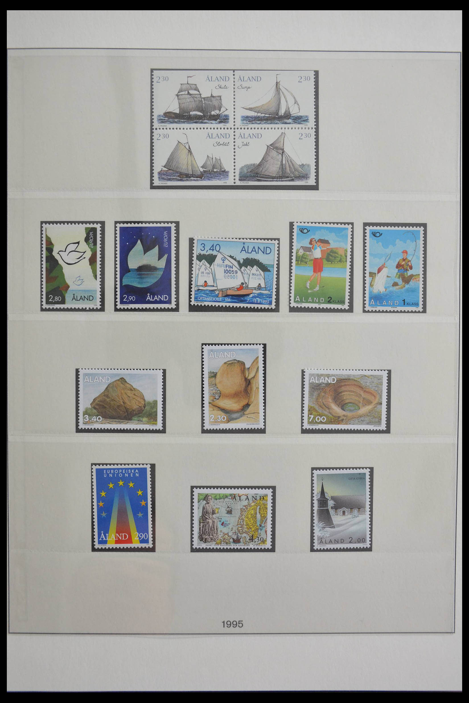 28584 014 - Stamp collection 28584 Aland 1984-2011.