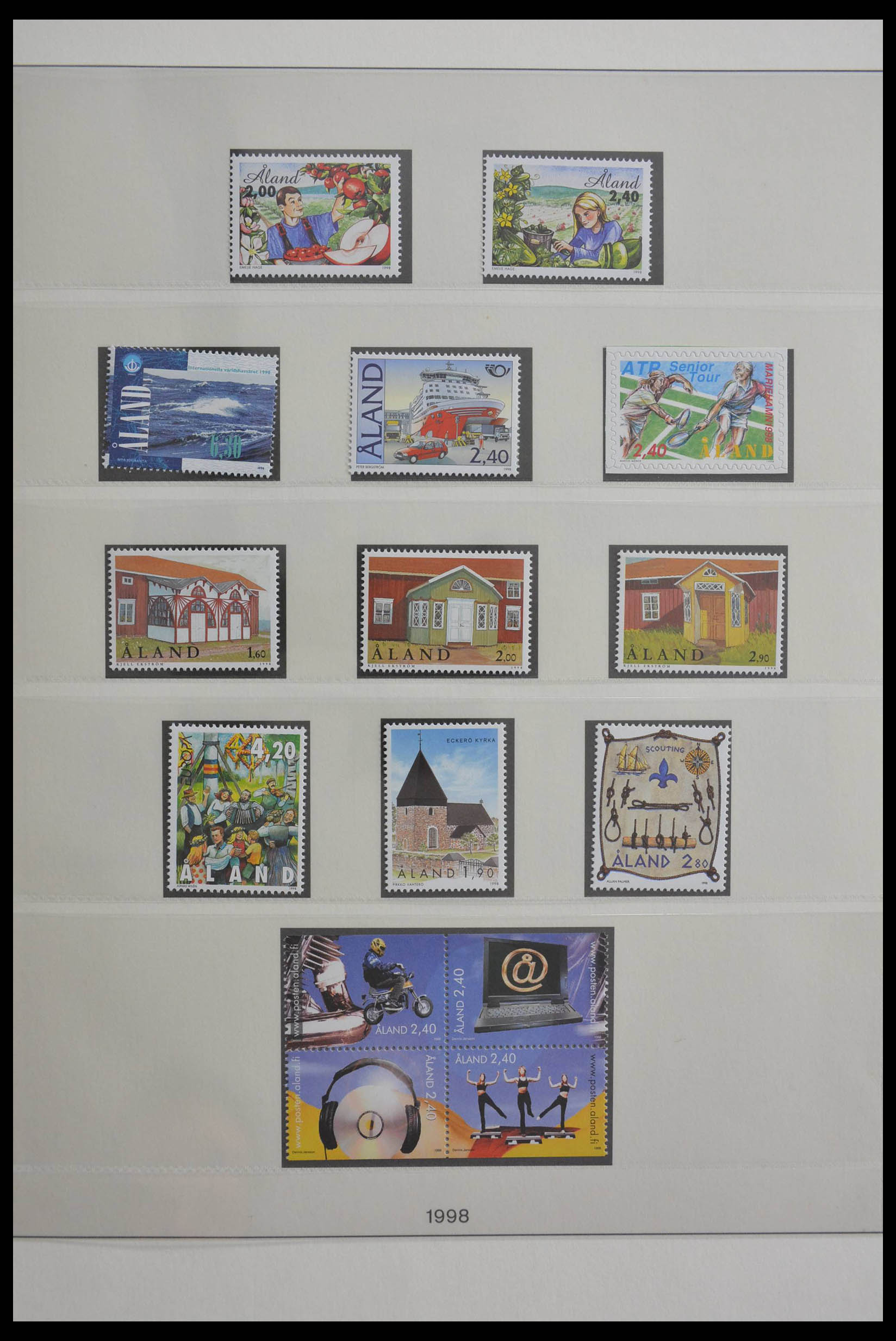 28584 018 - Stamp collection 28584 Aland 1984-2011.