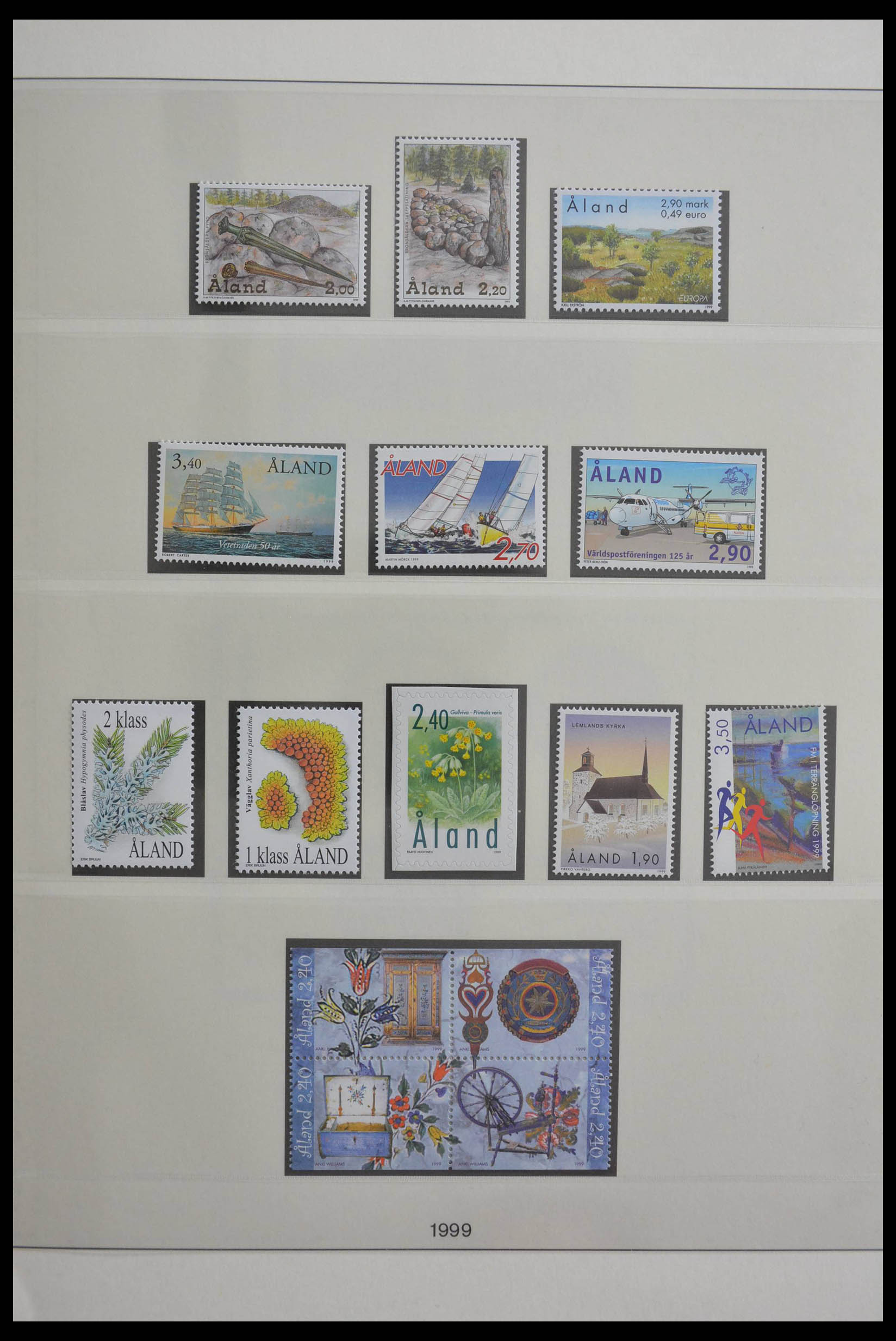 28584 019 - Stamp collection 28584 Aland 1984-2011.