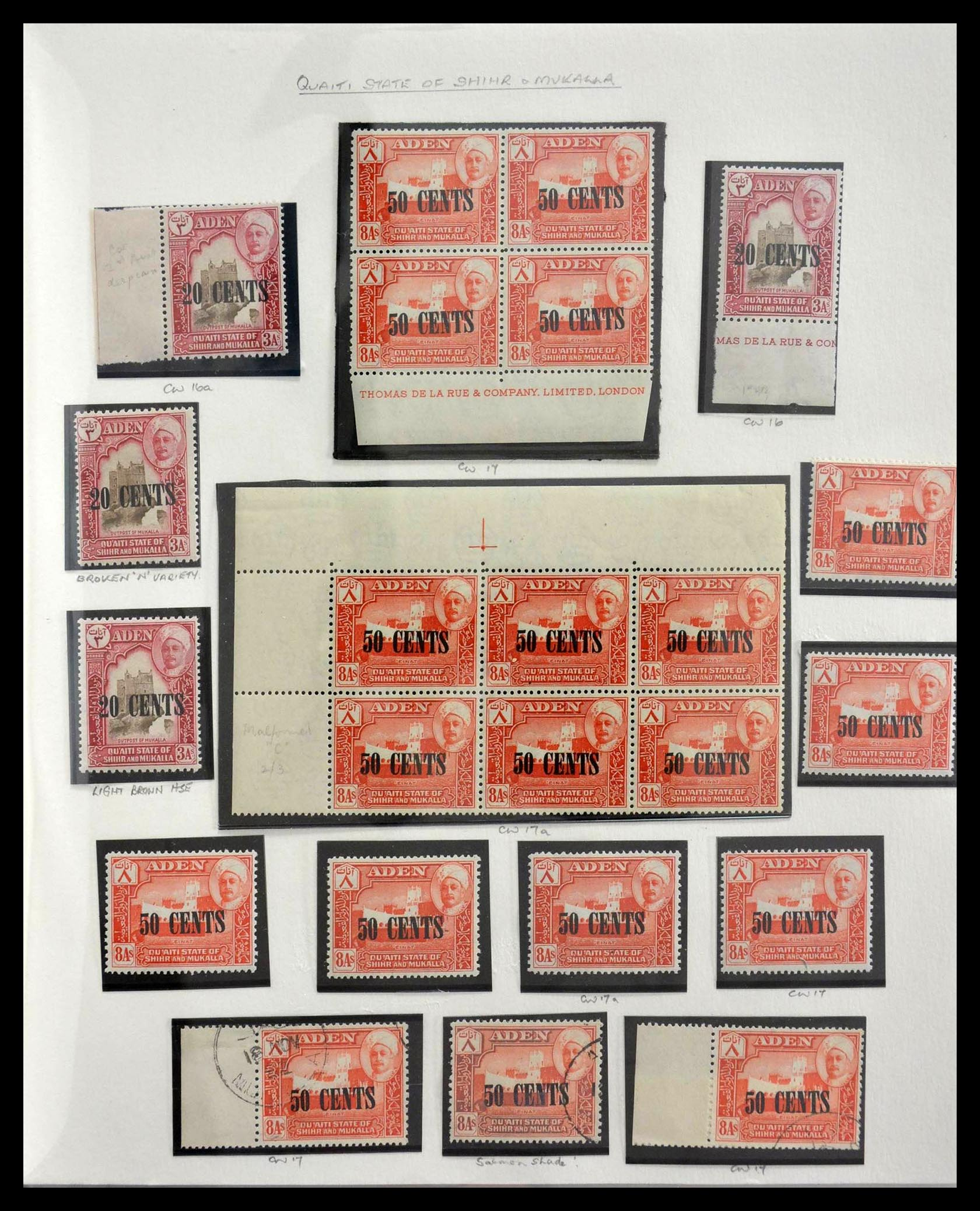 28672 019 - Stamp collection 28672 Aden Qu'aiti State 1942-1966.