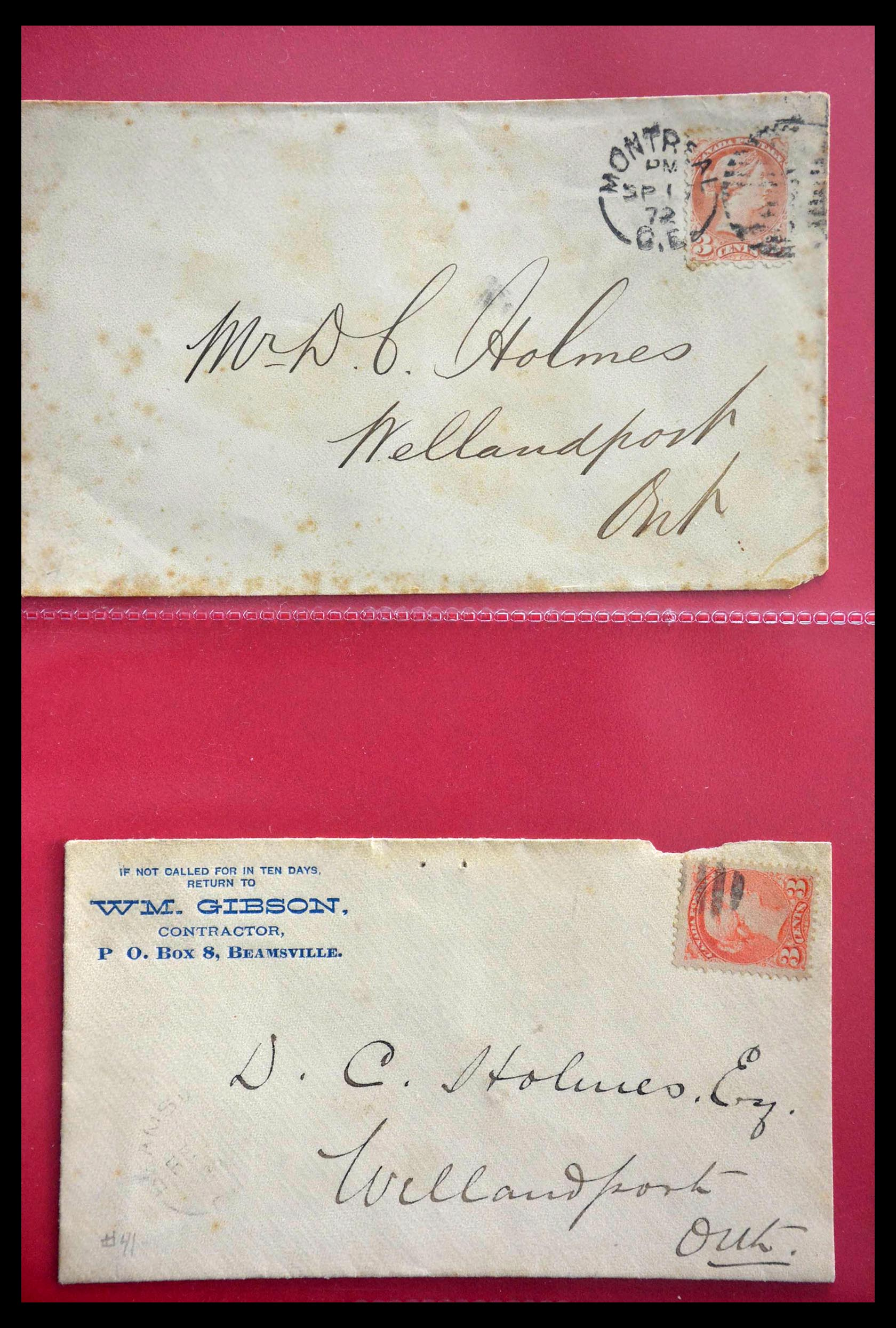 28696 001 - 28696 Canada covers 1872-1939.