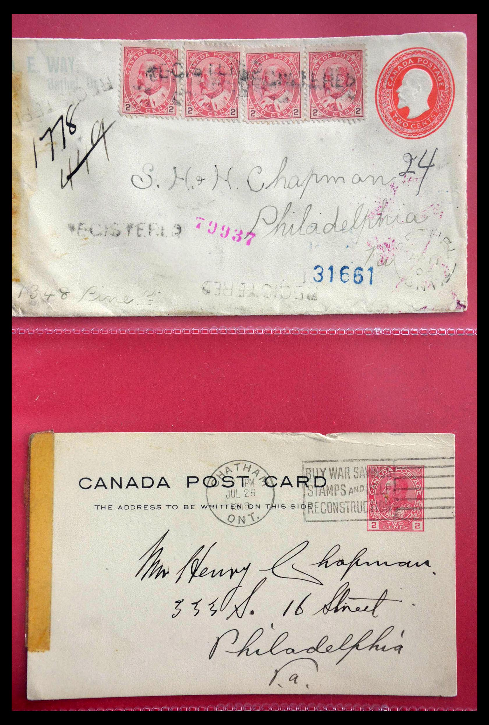 28696 003 - 28696 Canada covers 1872-1939.