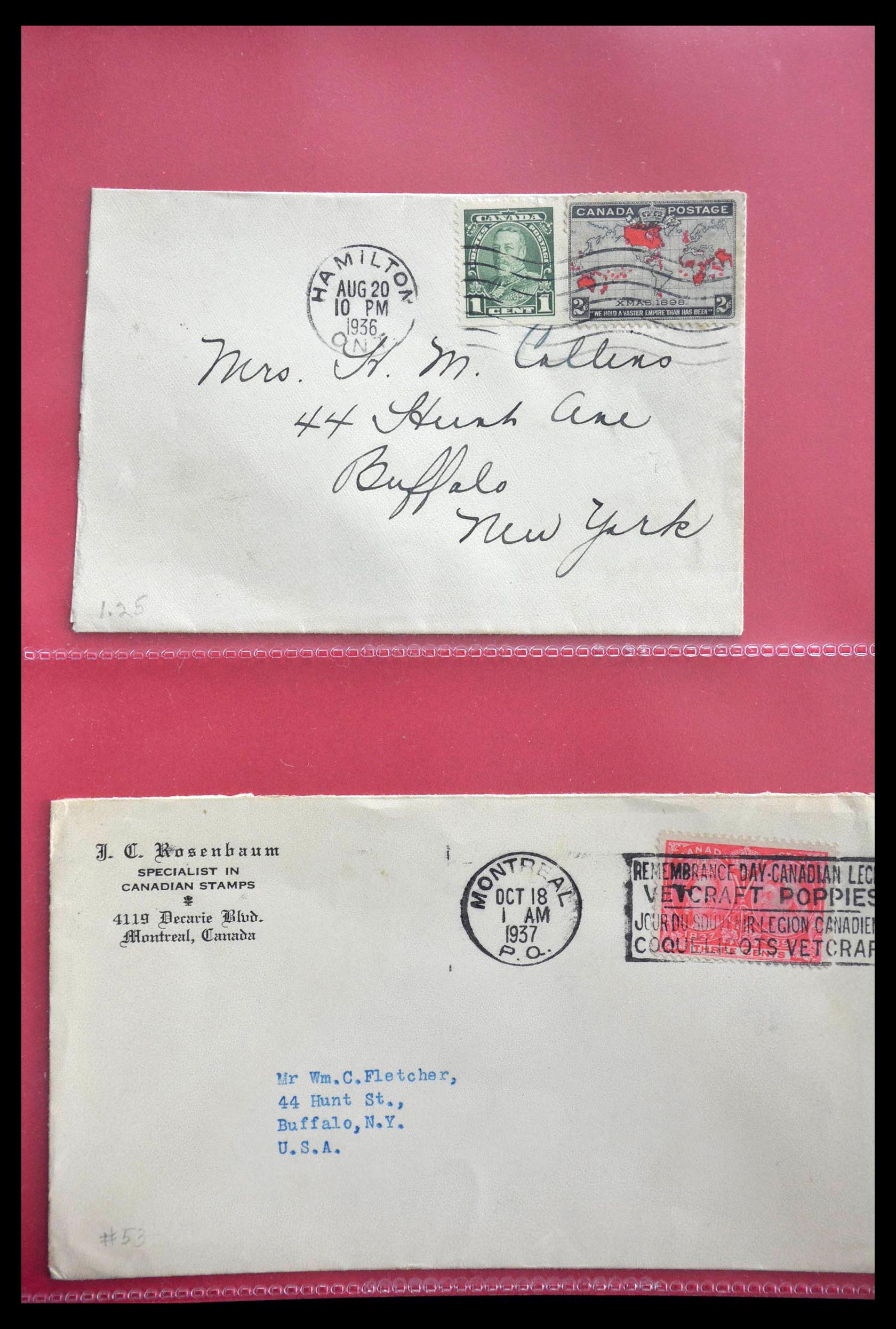 28696 006 - 28696 Canada covers 1872-1939.