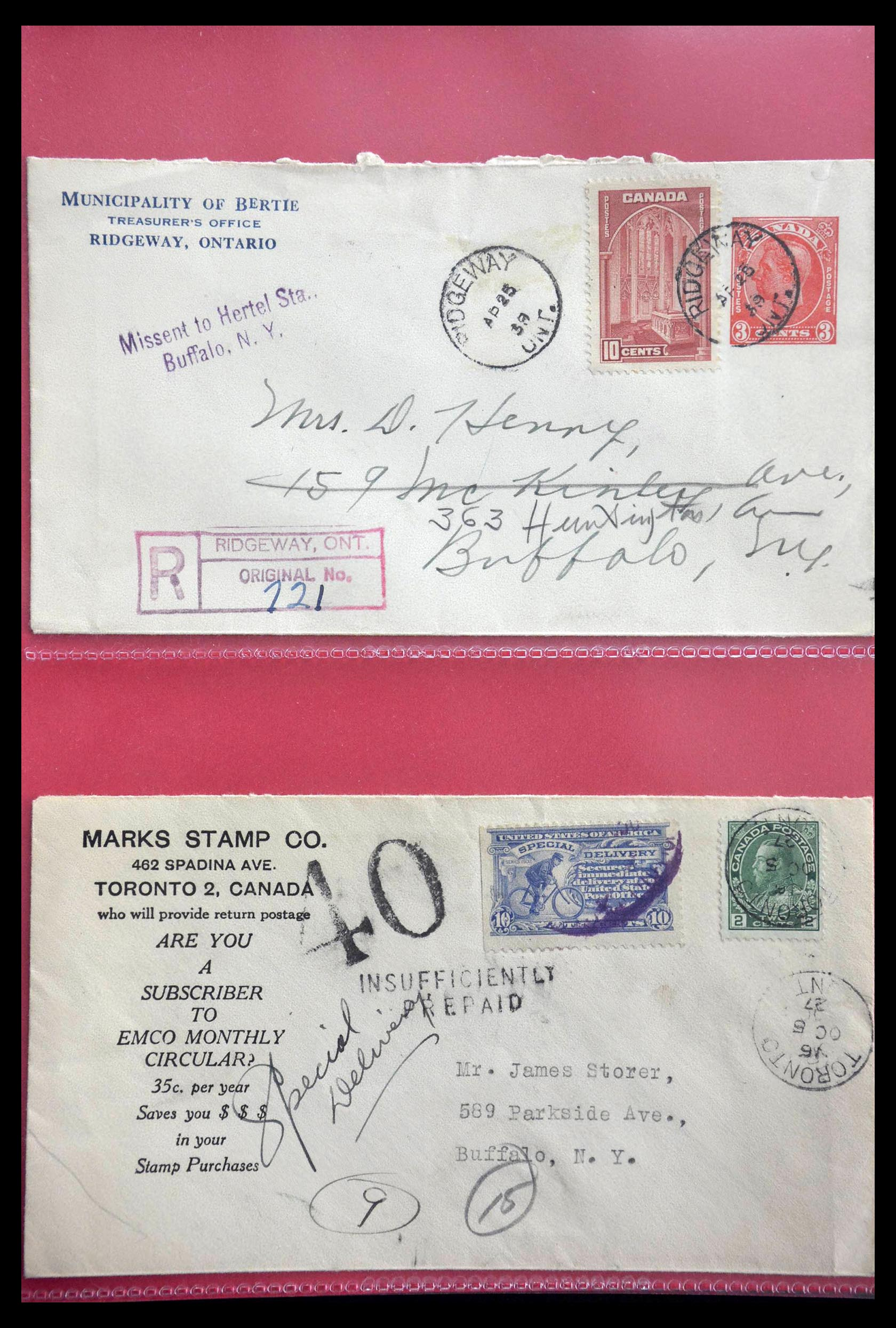28696 007 - 28696 Canada covers 1872-1939.