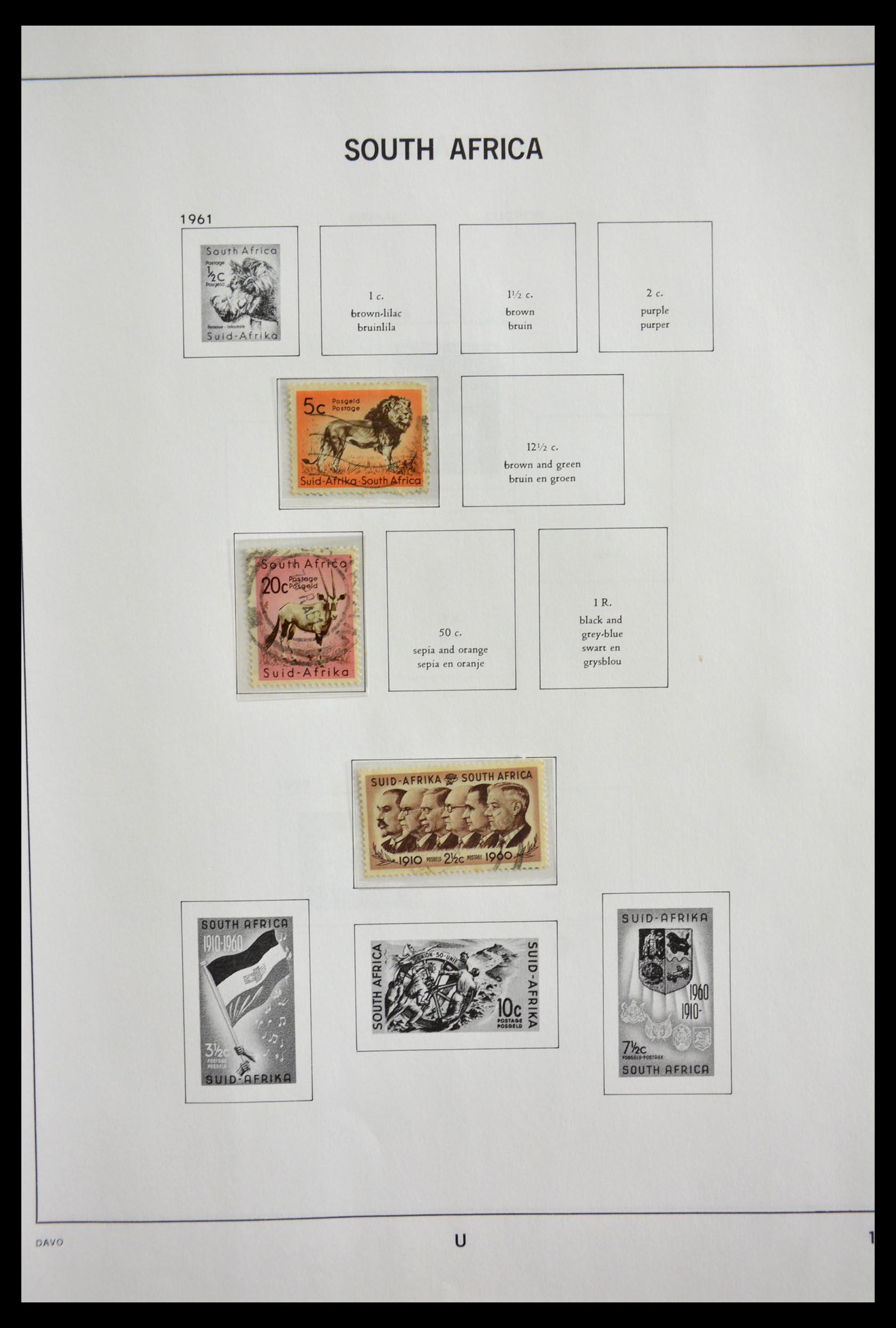 29393 017 - 29393 Zuid Afrika 1910-2001.