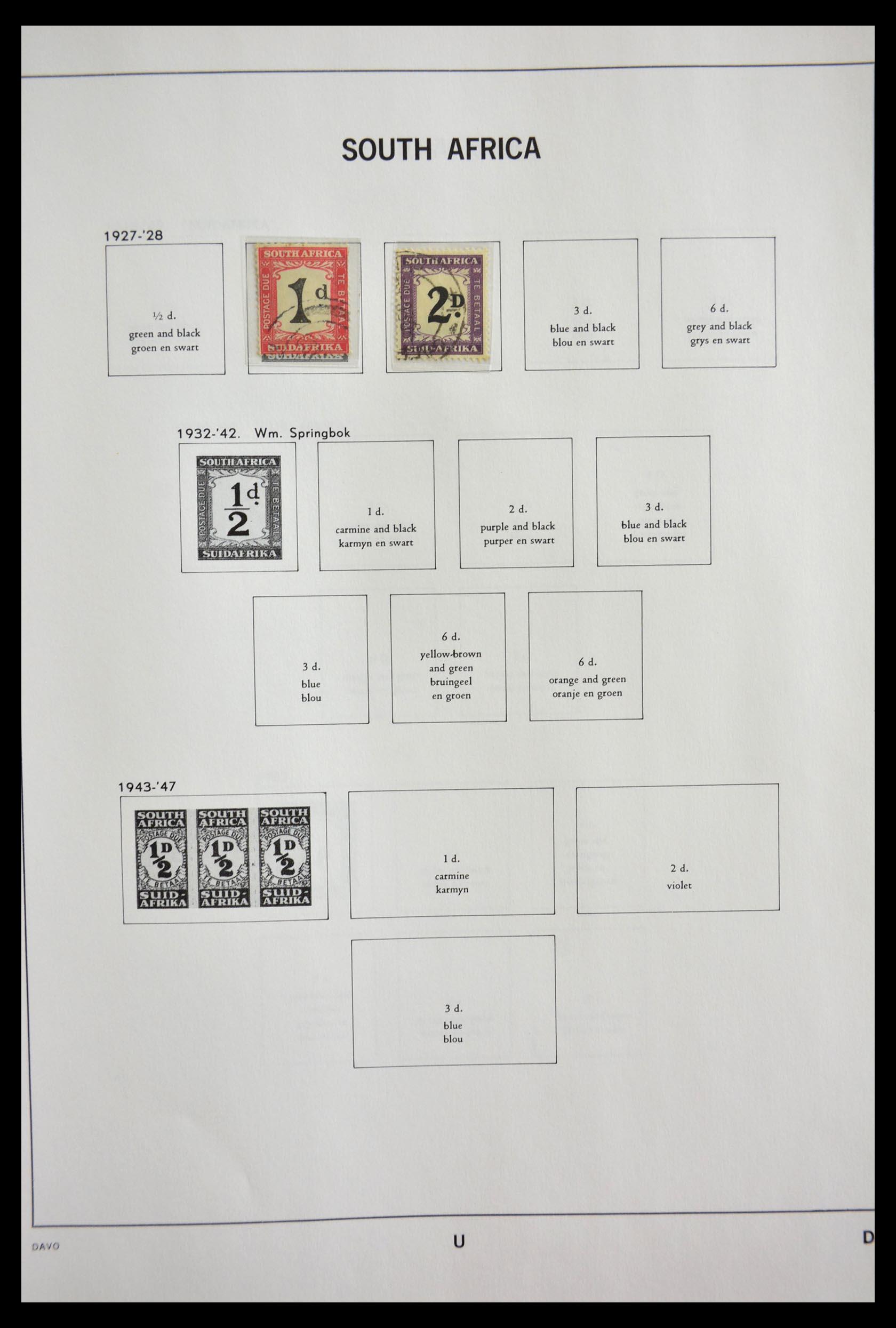 29393 019 - 29393 Zuid Afrika 1910-2001.