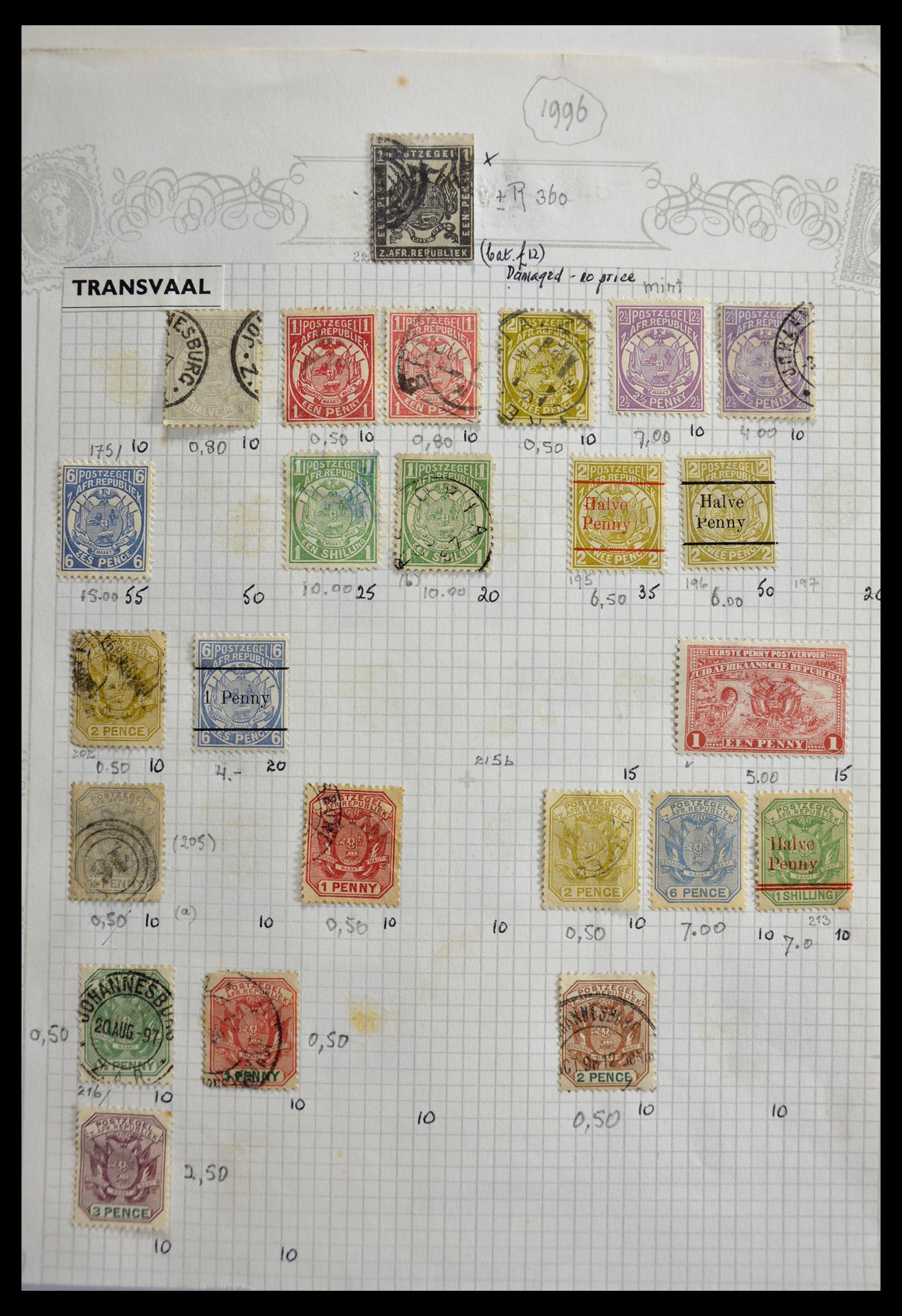 29420 001 - 29420 Zuid Afrika en gebieden 1910-2001.