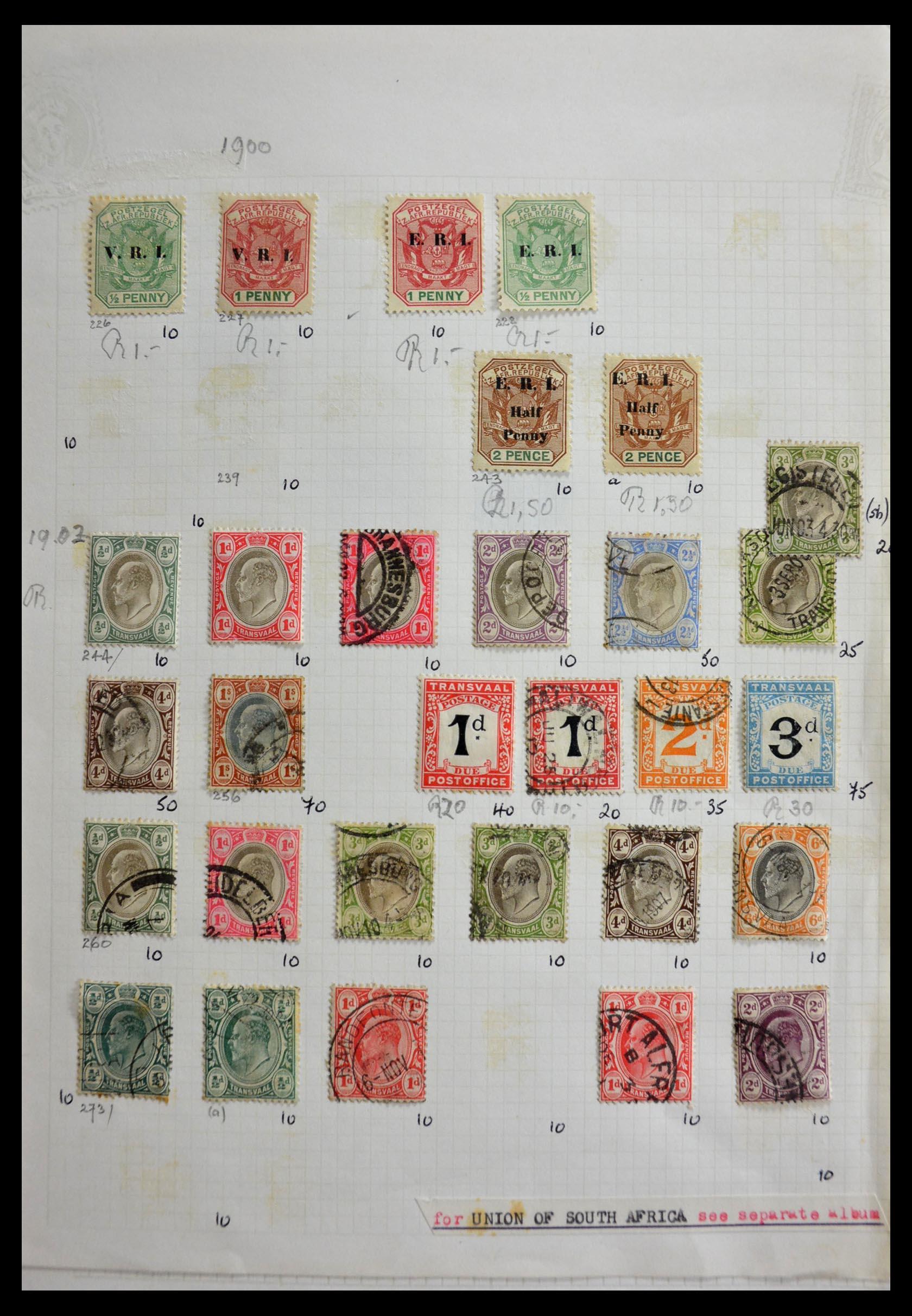 29420 002 - 29420 Zuid Afrika en gebieden 1910-2001.