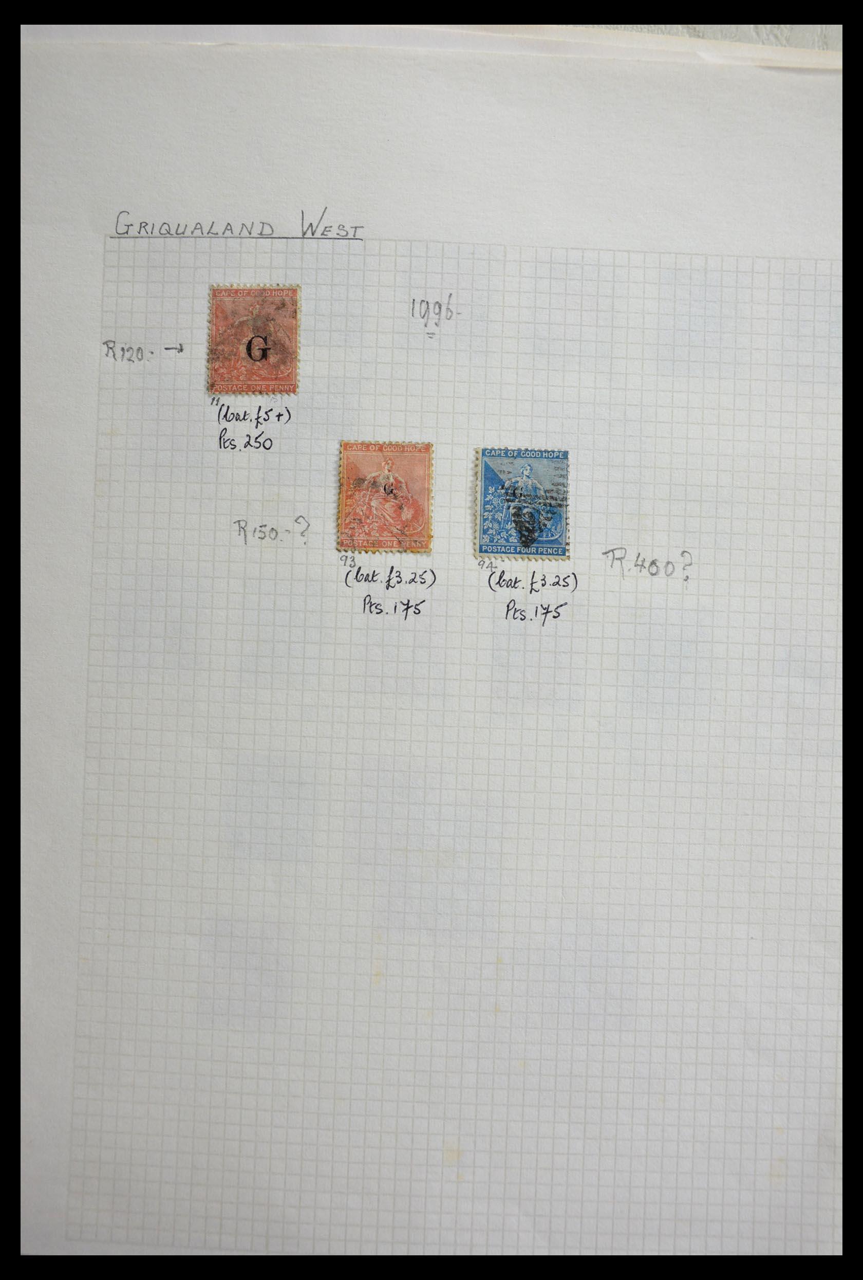 29420 003 - 29420 Zuid Afrika en gebieden 1910-2001.