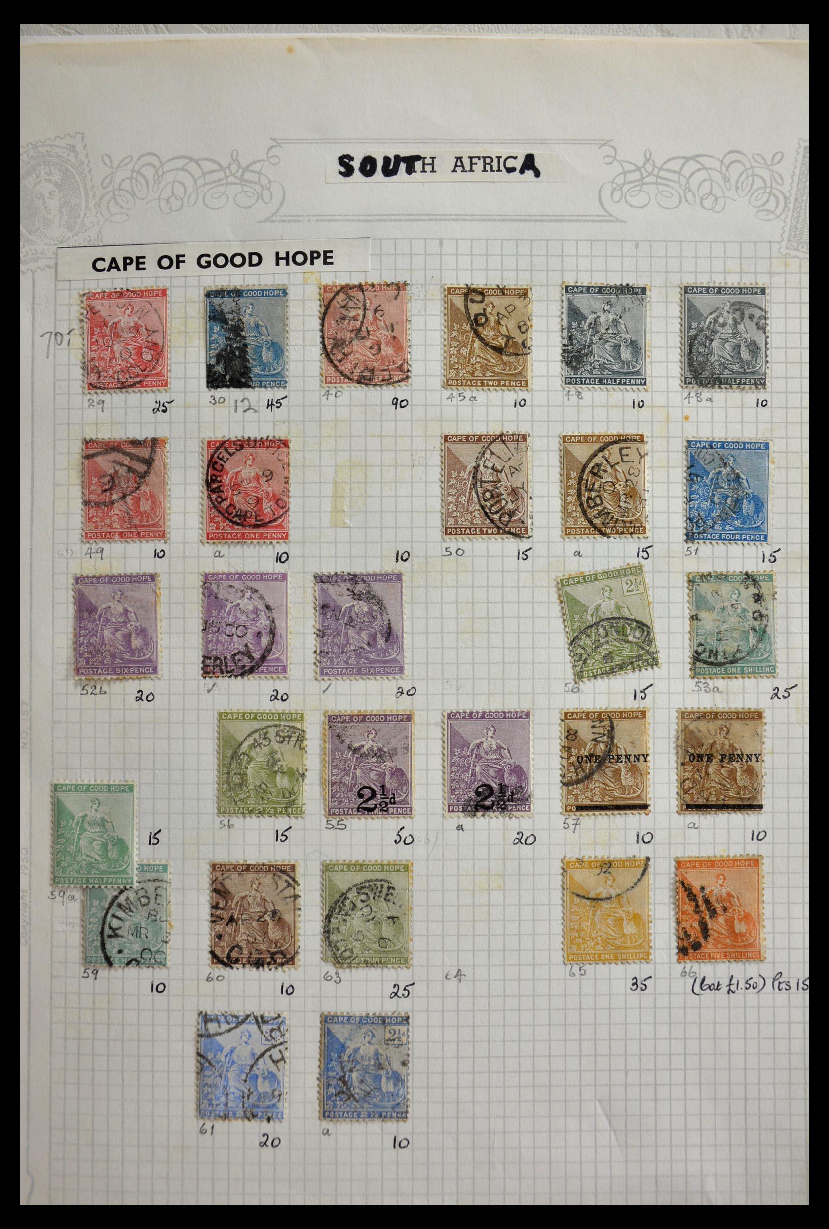 29420 006 - 29420 Zuid Afrika en gebieden 1910-2001.