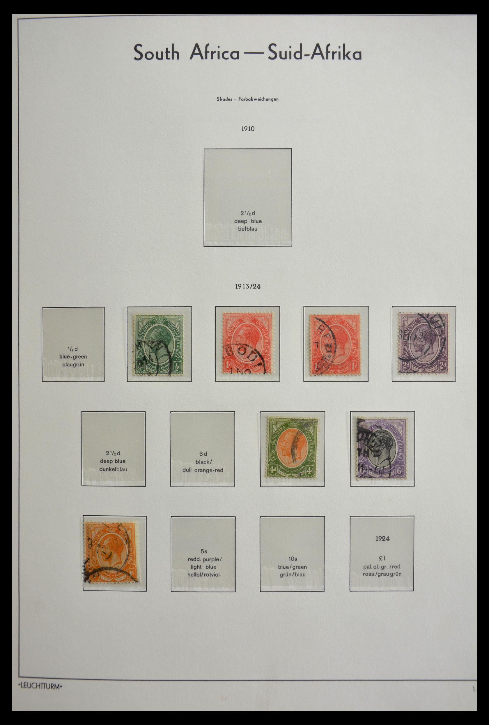 29420 010 - 29420 Zuid Afrika en gebieden 1910-2001.