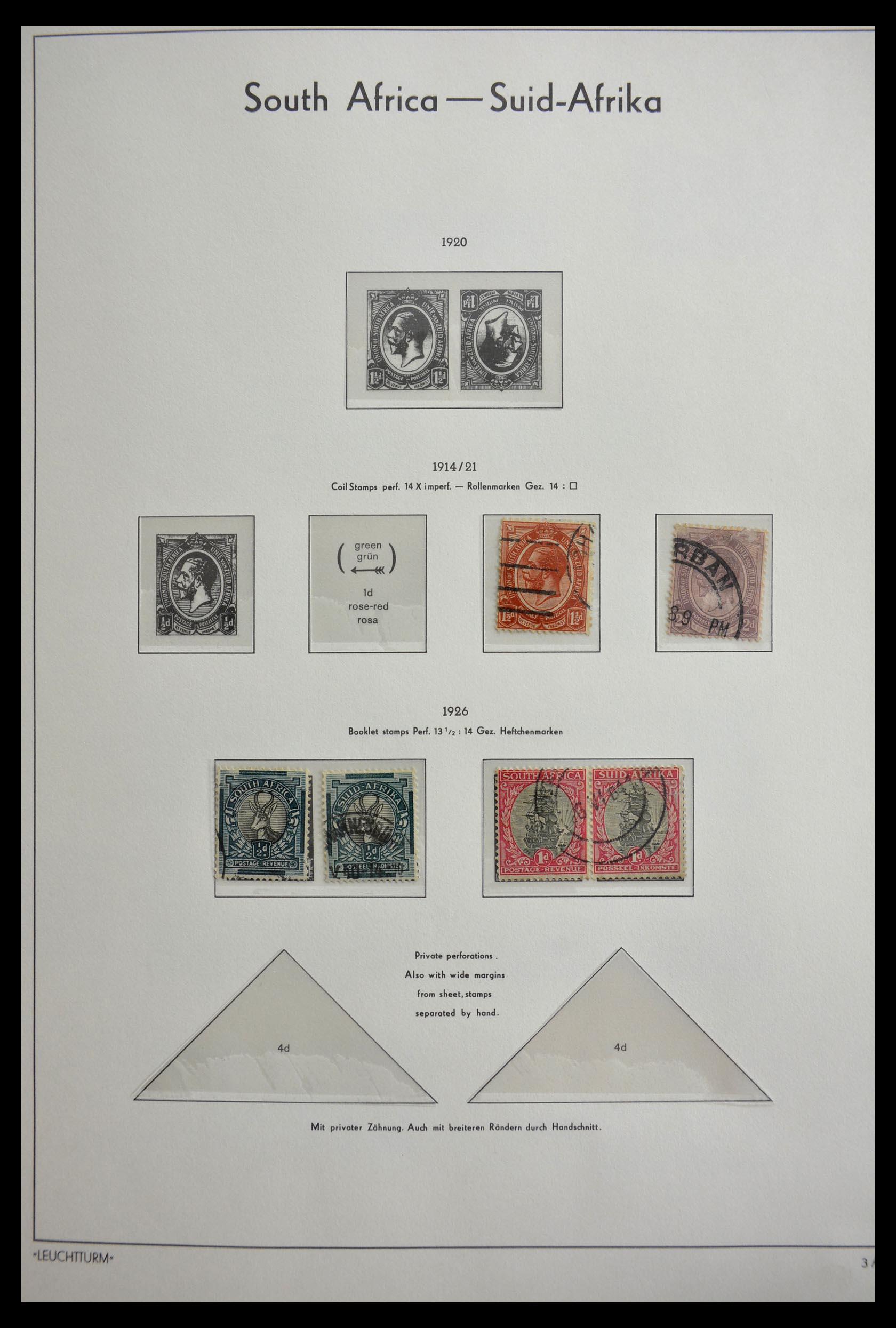29420 012 - 29420 Zuid Afrika en gebieden 1910-2001.
