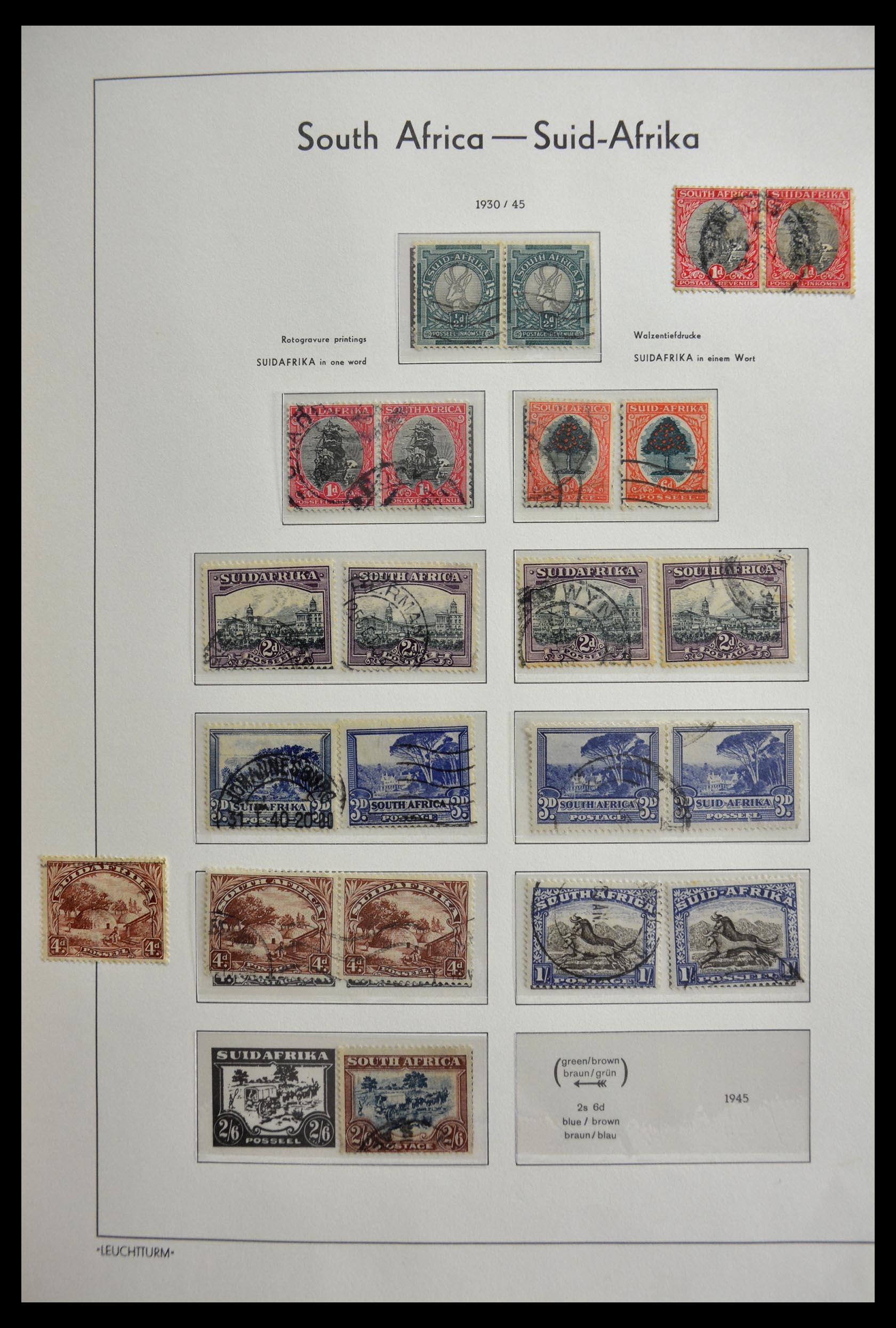 29420 013 - 29420 Zuid Afrika en gebieden 1910-2001.