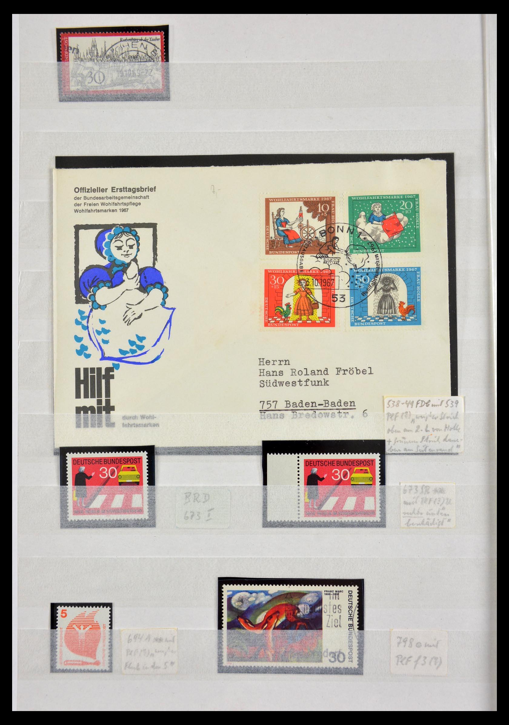 29491 002 - 29491 Bundespost plateflaws 1957-1994.