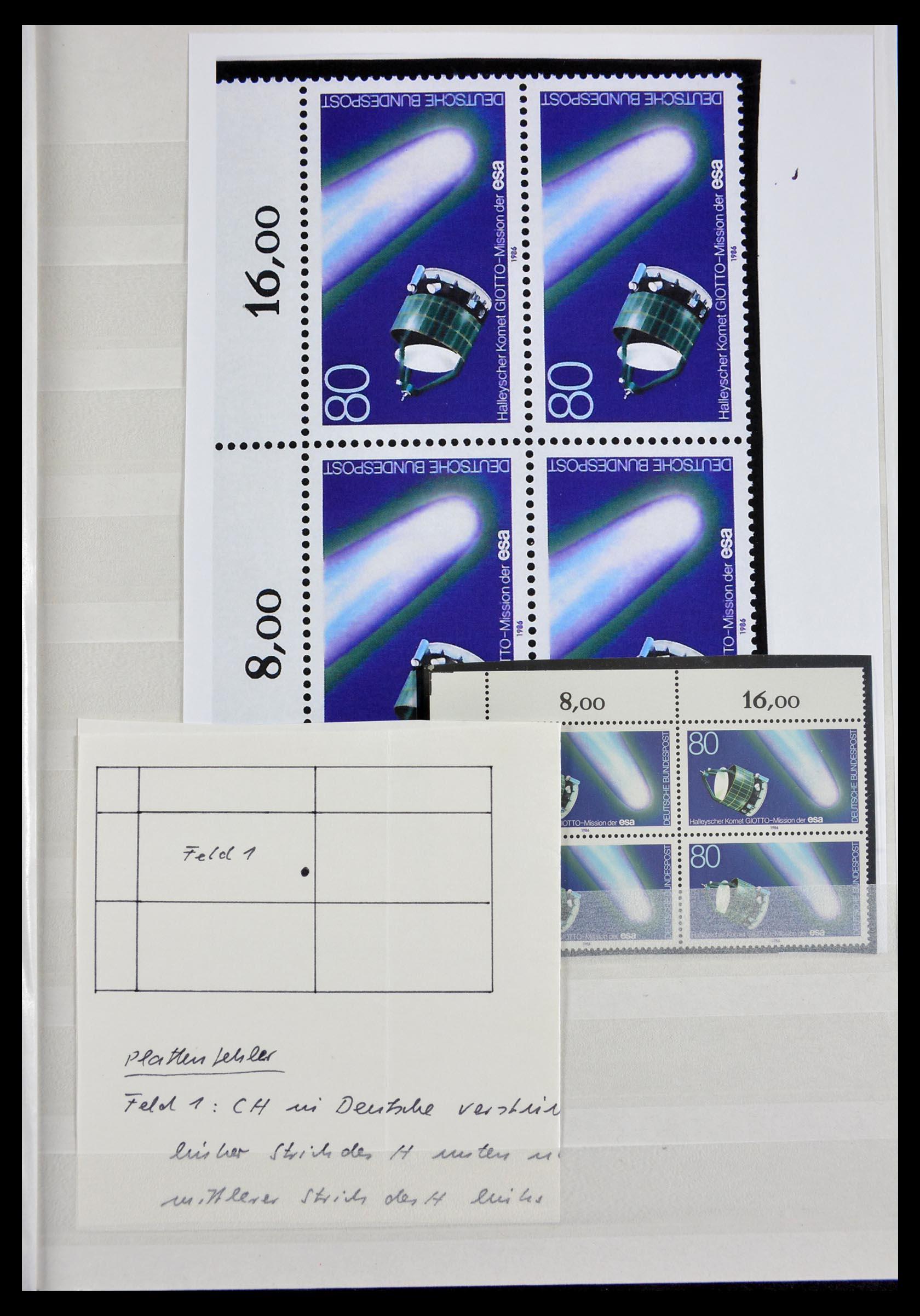 29491 009 - 29491 Bundespost plateflaws 1957-1994.