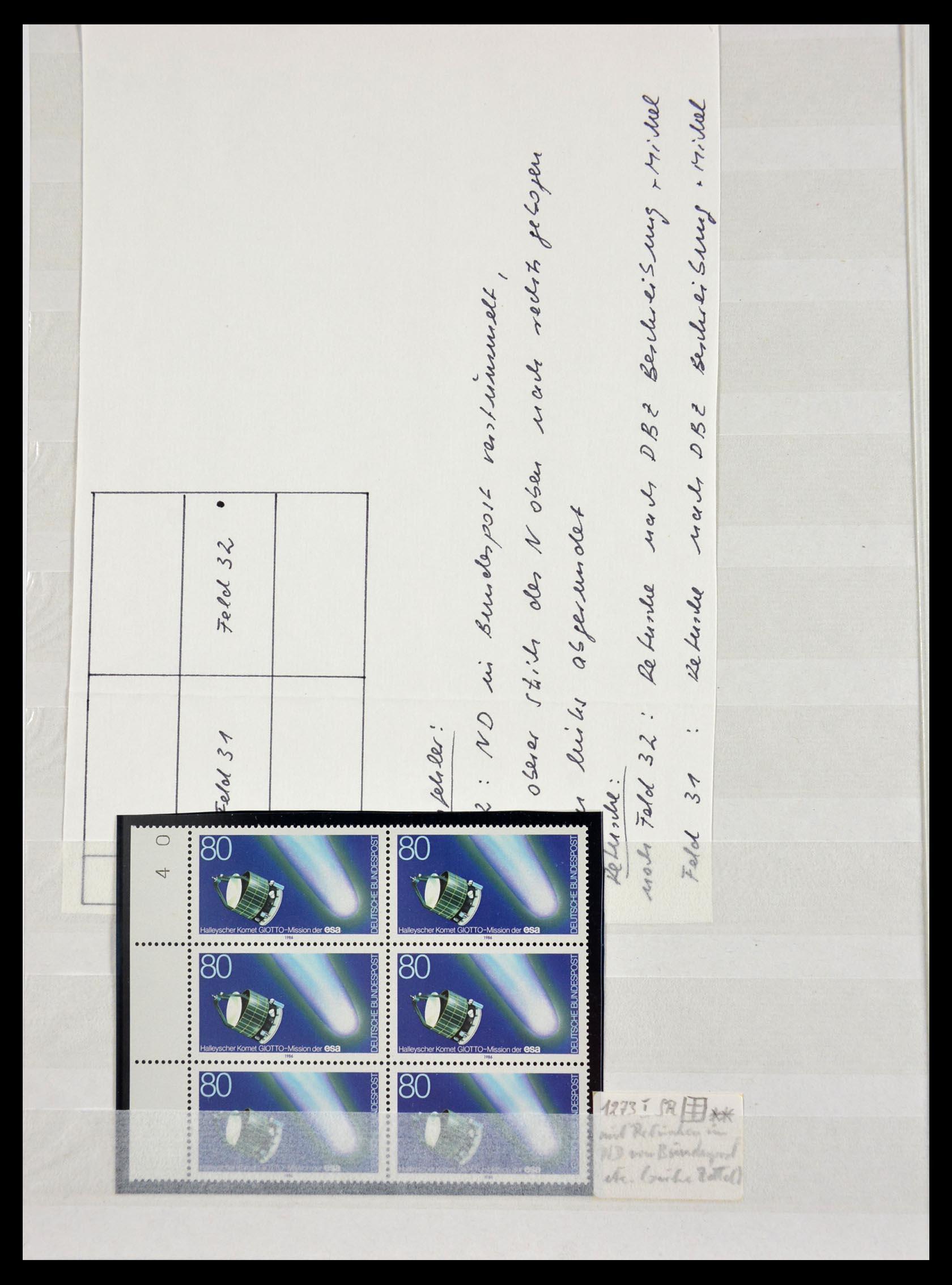 29491 010 - 29491 Bundespost plateflaws 1957-1994.