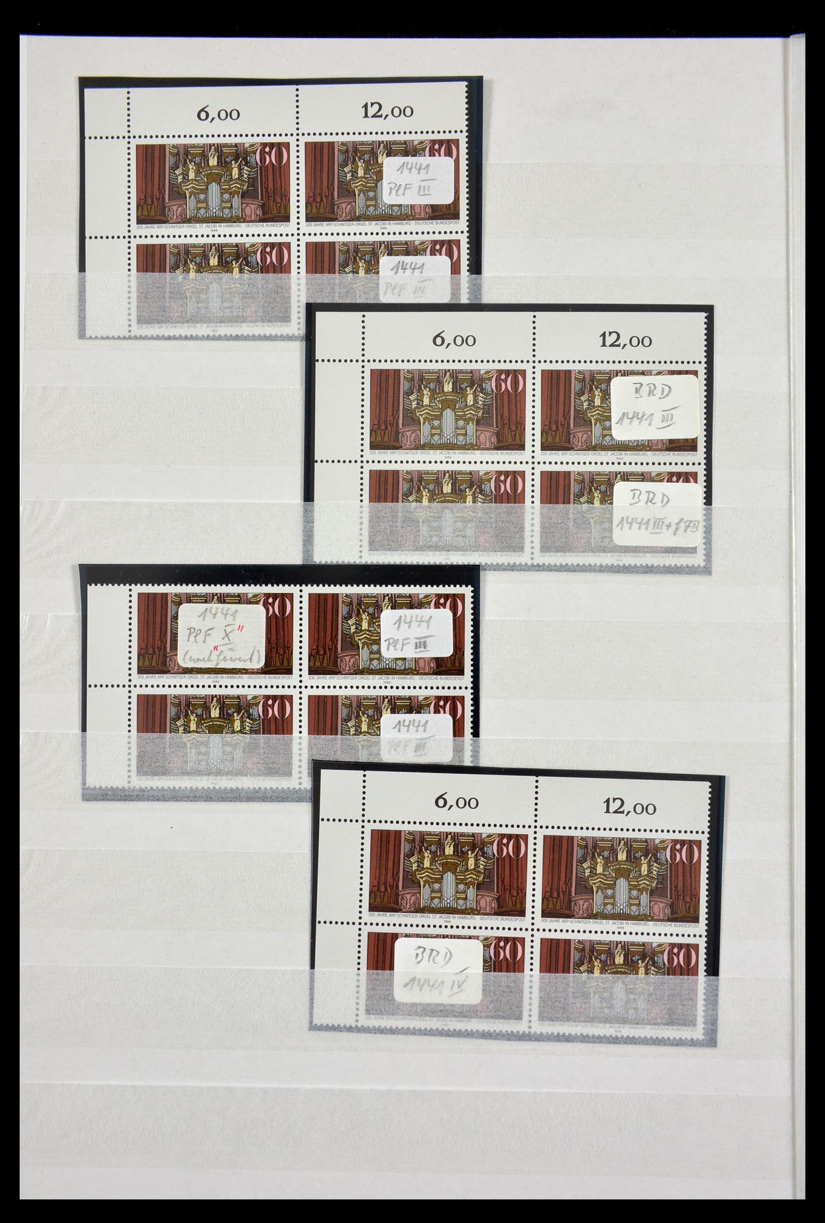 29491 014 - 29491 Bundespost plateflaws 1957-1994.