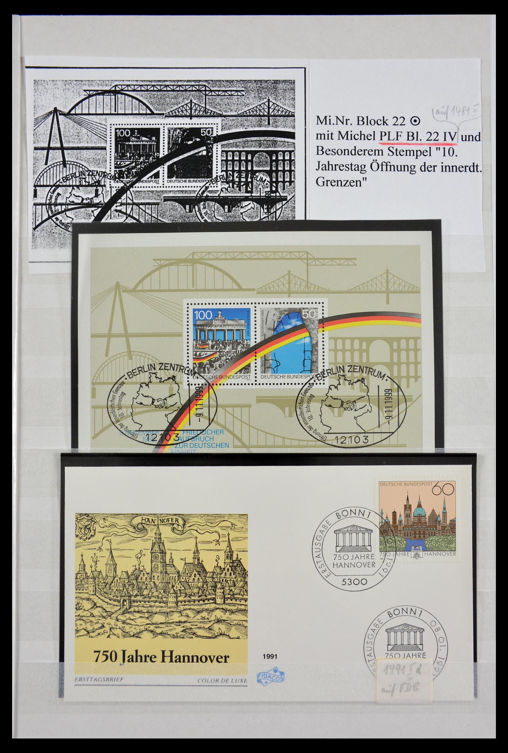 29491 017 - 29491 Bundespost plateflaws 1957-1994.