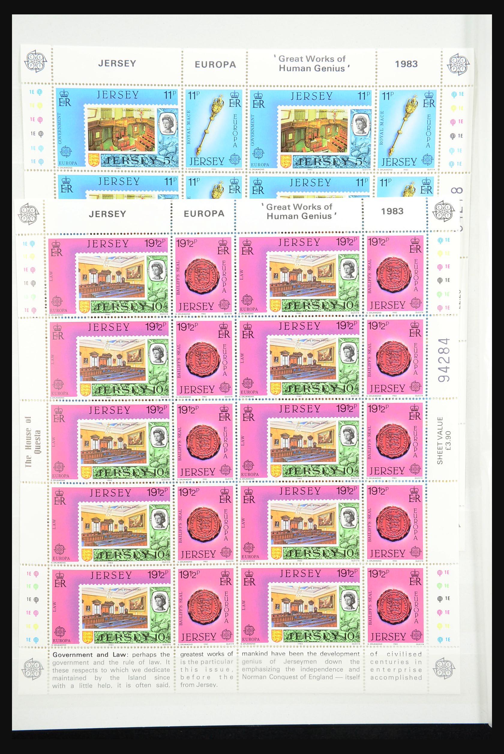 31249 008 - 31249 Kanaaleilanden blokken en velletjes 1978-1997.