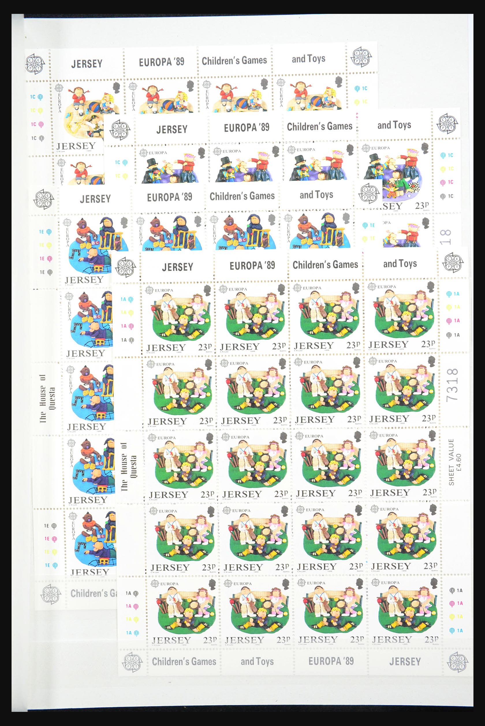 31249 015 - 31249 Kanaaleilanden blokken en velletjes 1978-1997.