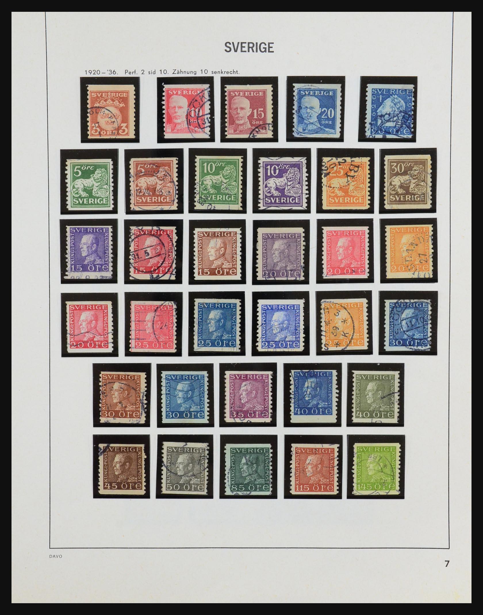 31453 007 - 31453 Sweden 1858-1974.