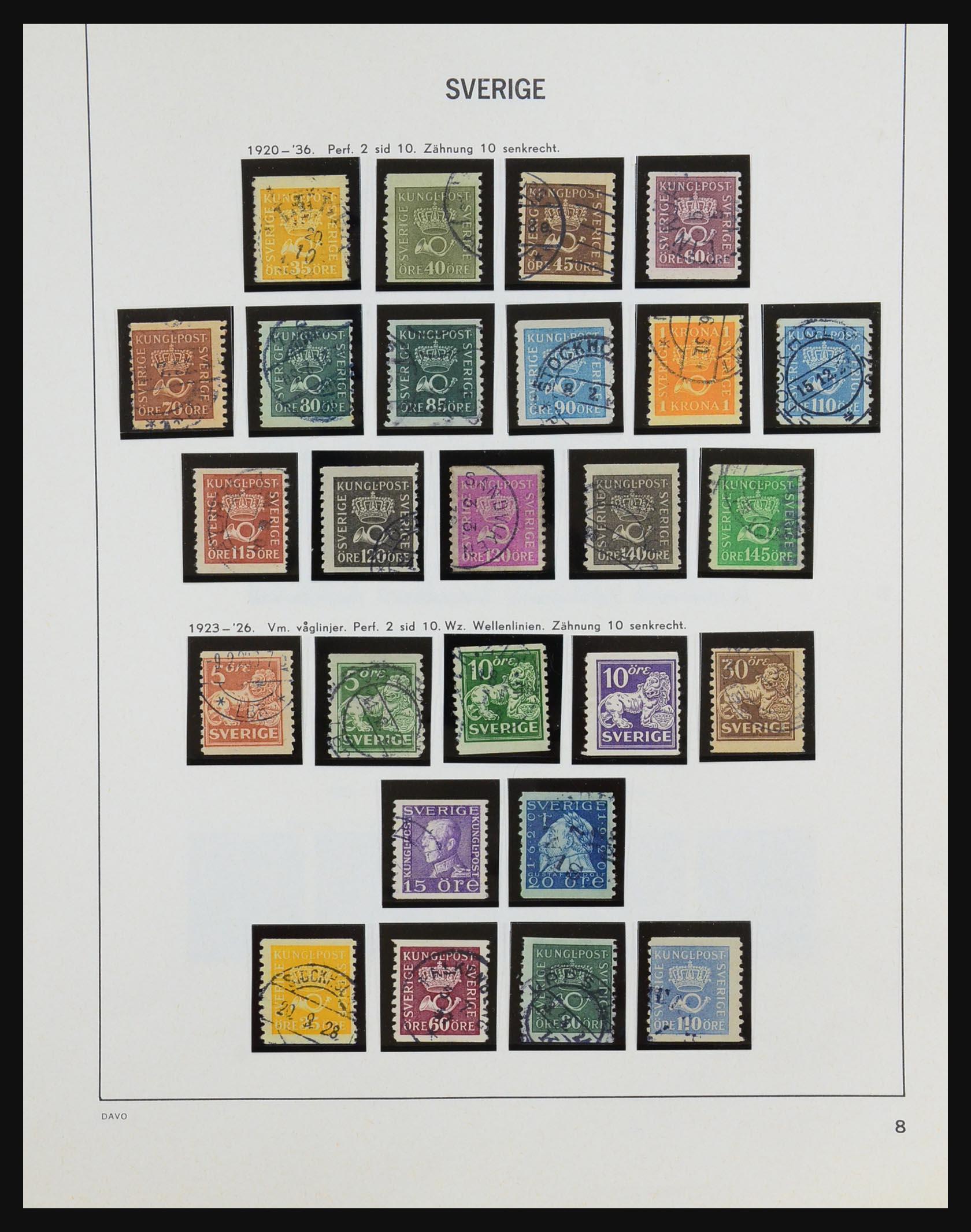 31453 008 - 31453 Sweden 1858-1974.