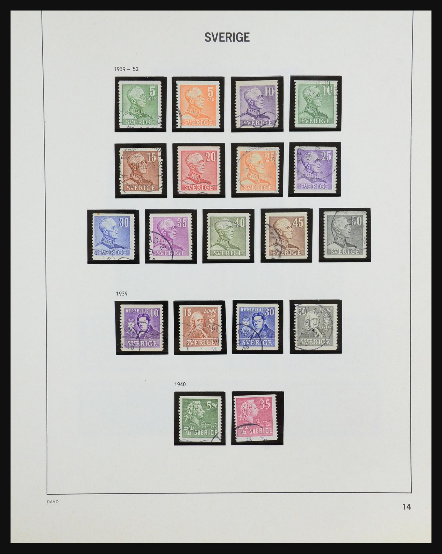 31453 016 - 31453 Sweden 1858-1974.