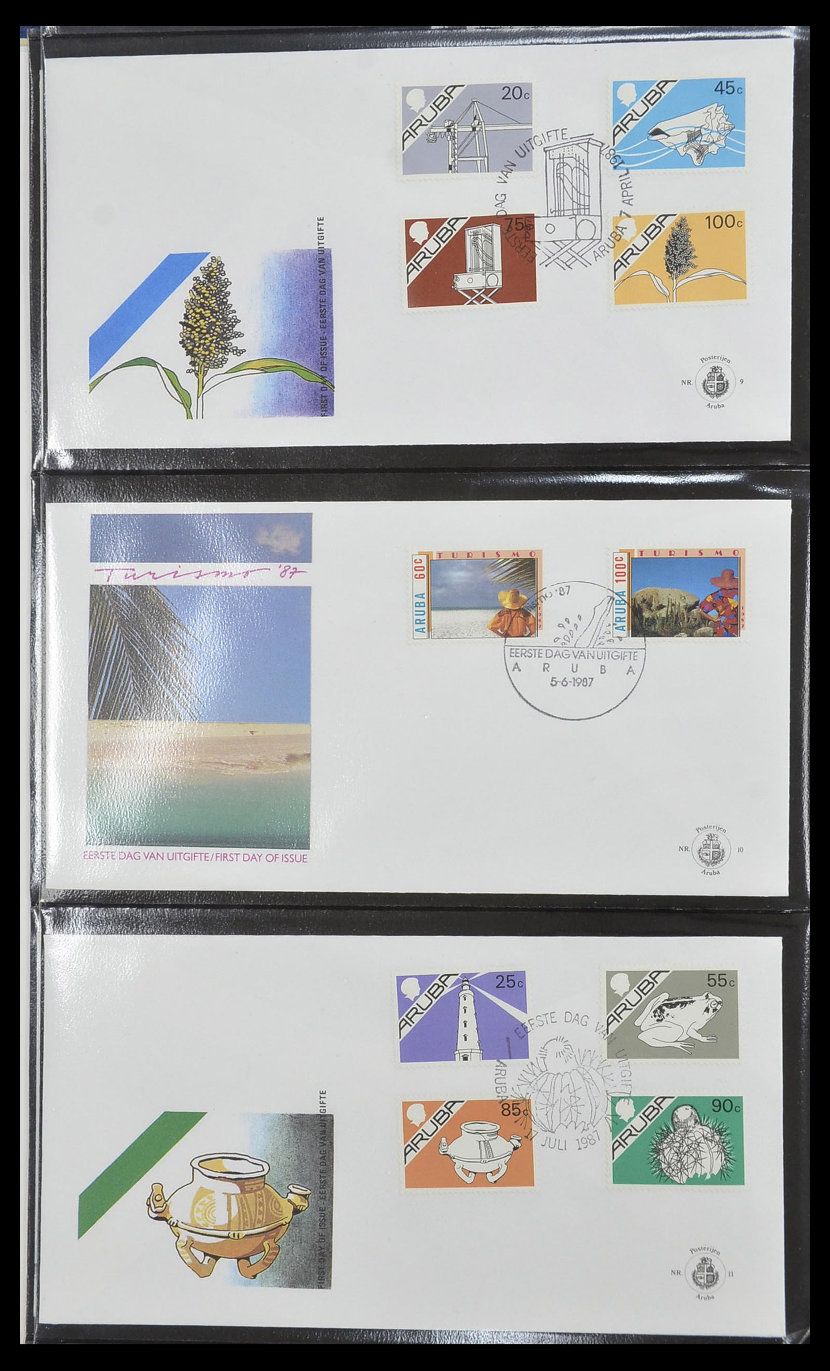 33585 004 - Postzegelverzameling 33585 Aruba FDC's 1986-2006.