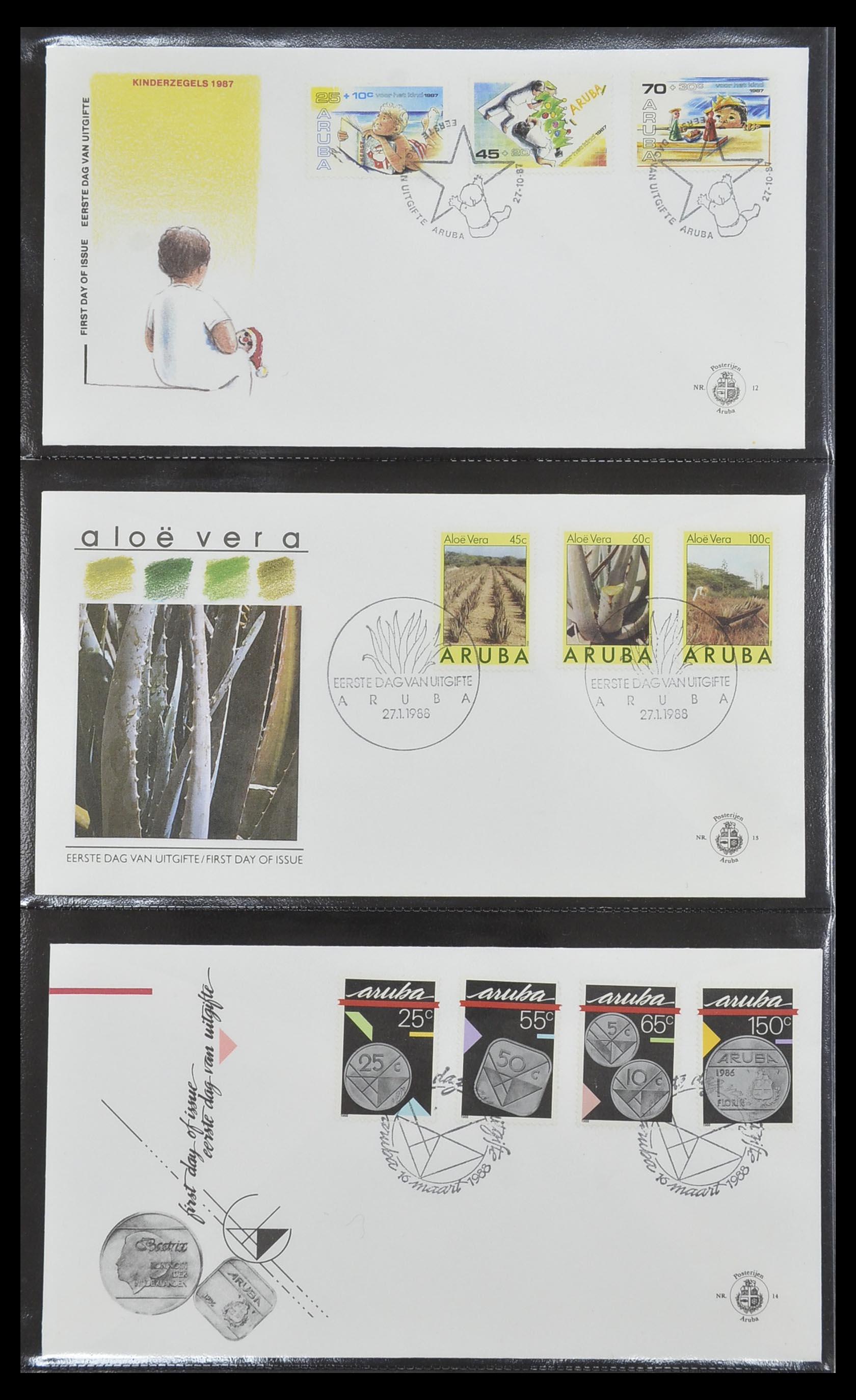 33585 005 - Postzegelverzameling 33585 Aruba FDC's 1986-2006.