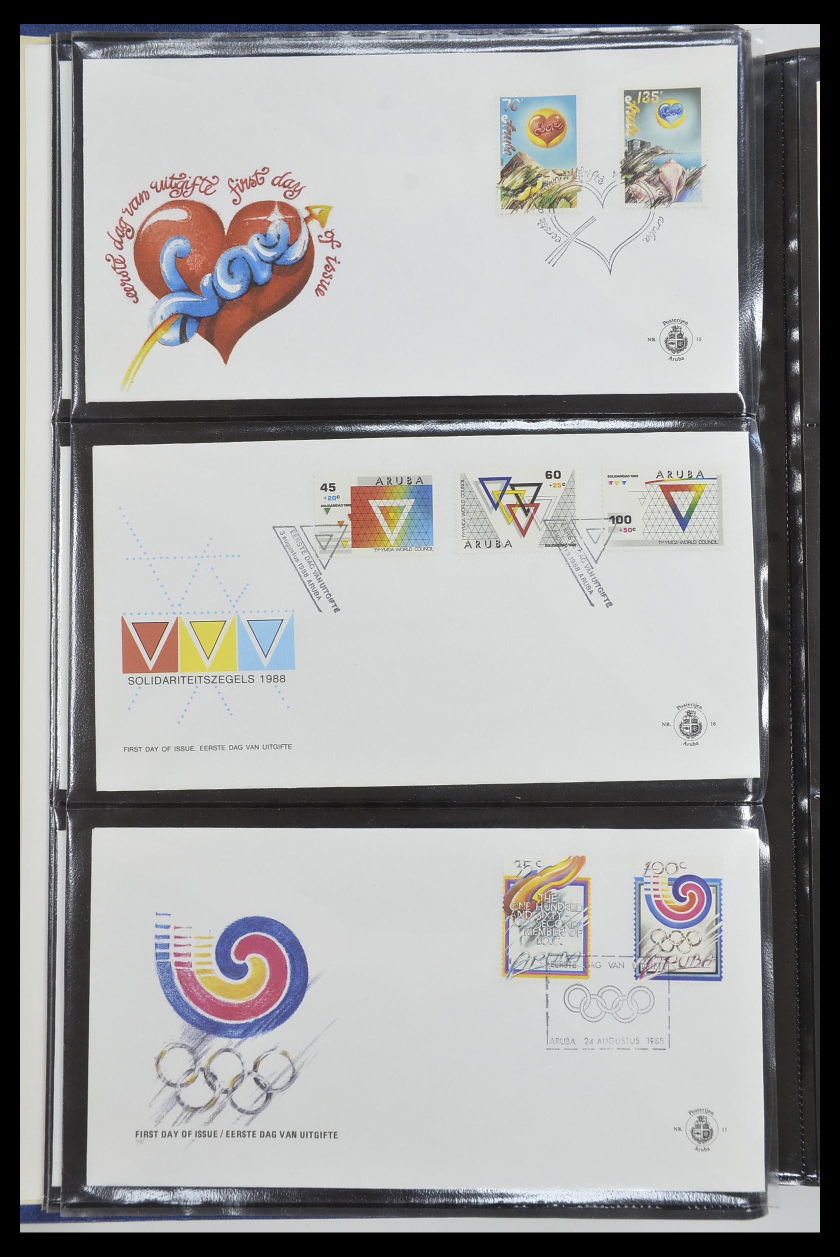 33585 006 - Postzegelverzameling 33585 Aruba FDC's 1986-2006.