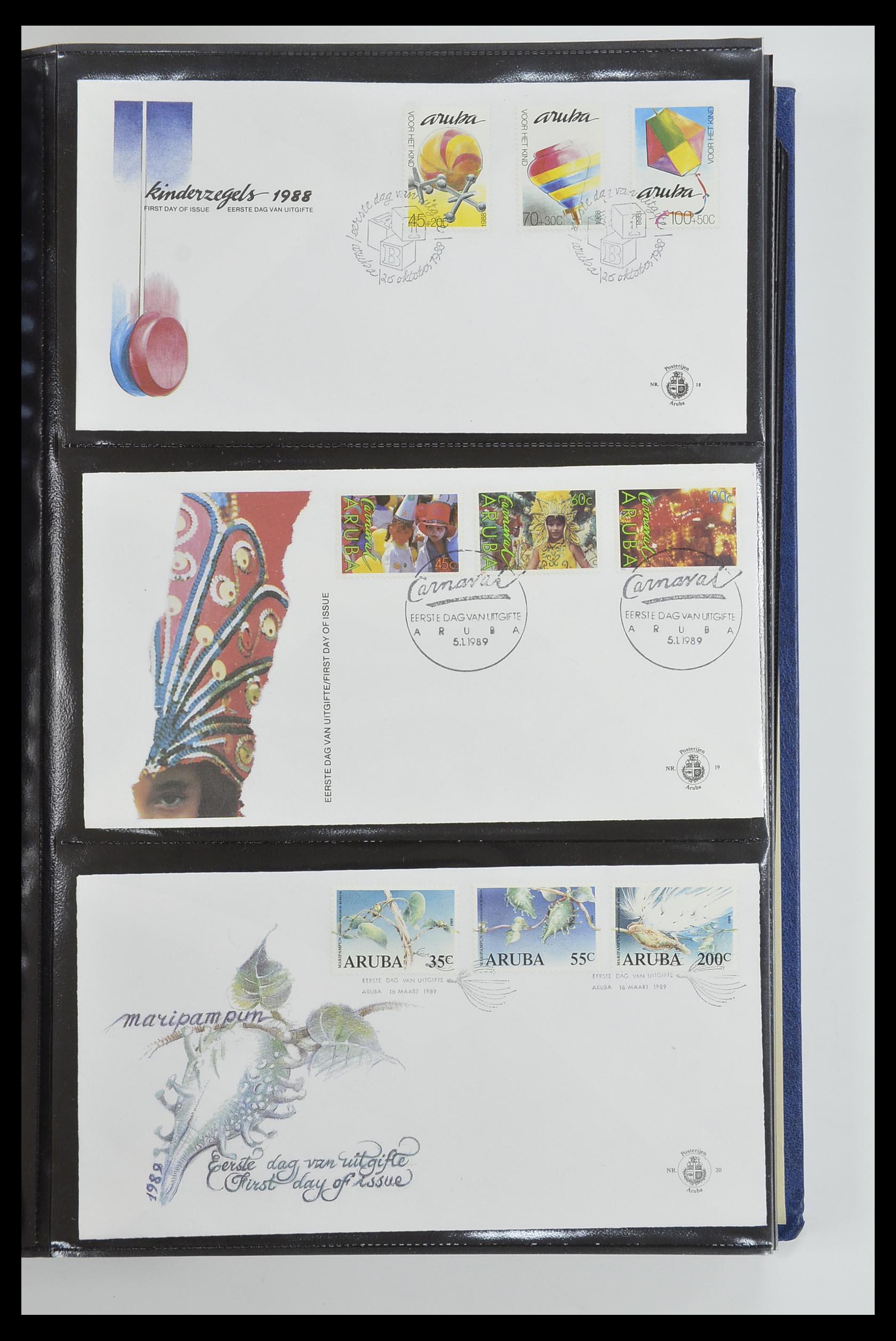 33585 007 - Postzegelverzameling 33585 Aruba FDC's 1986-2006.