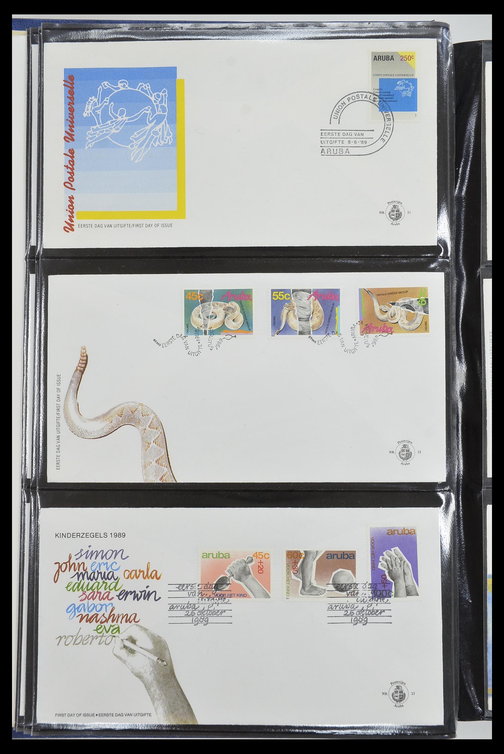 33585 008 - Postzegelverzameling 33585 Aruba FDC's 1986-2006.