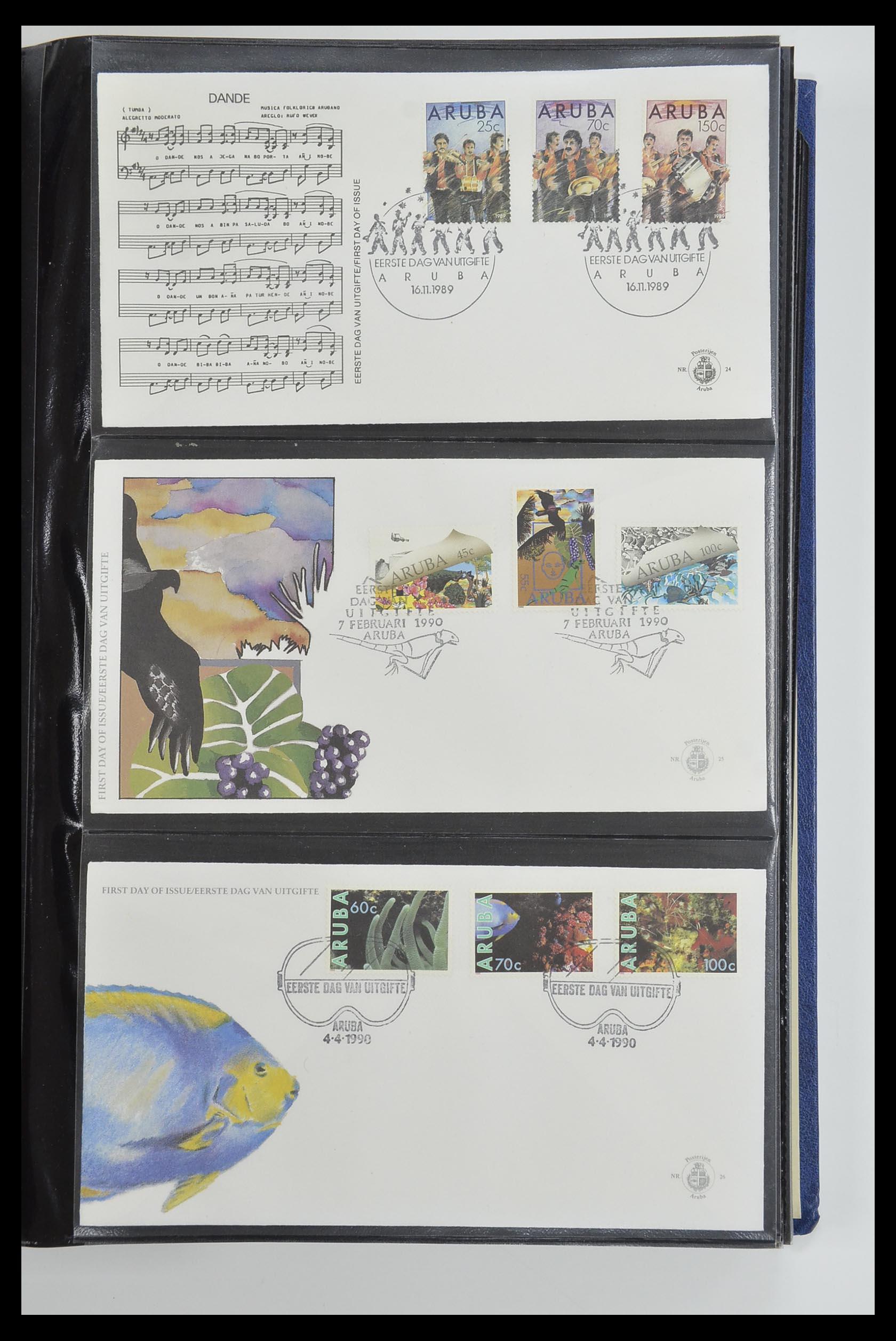 33585 009 - Postzegelverzameling 33585 Aruba FDC's 1986-2006.