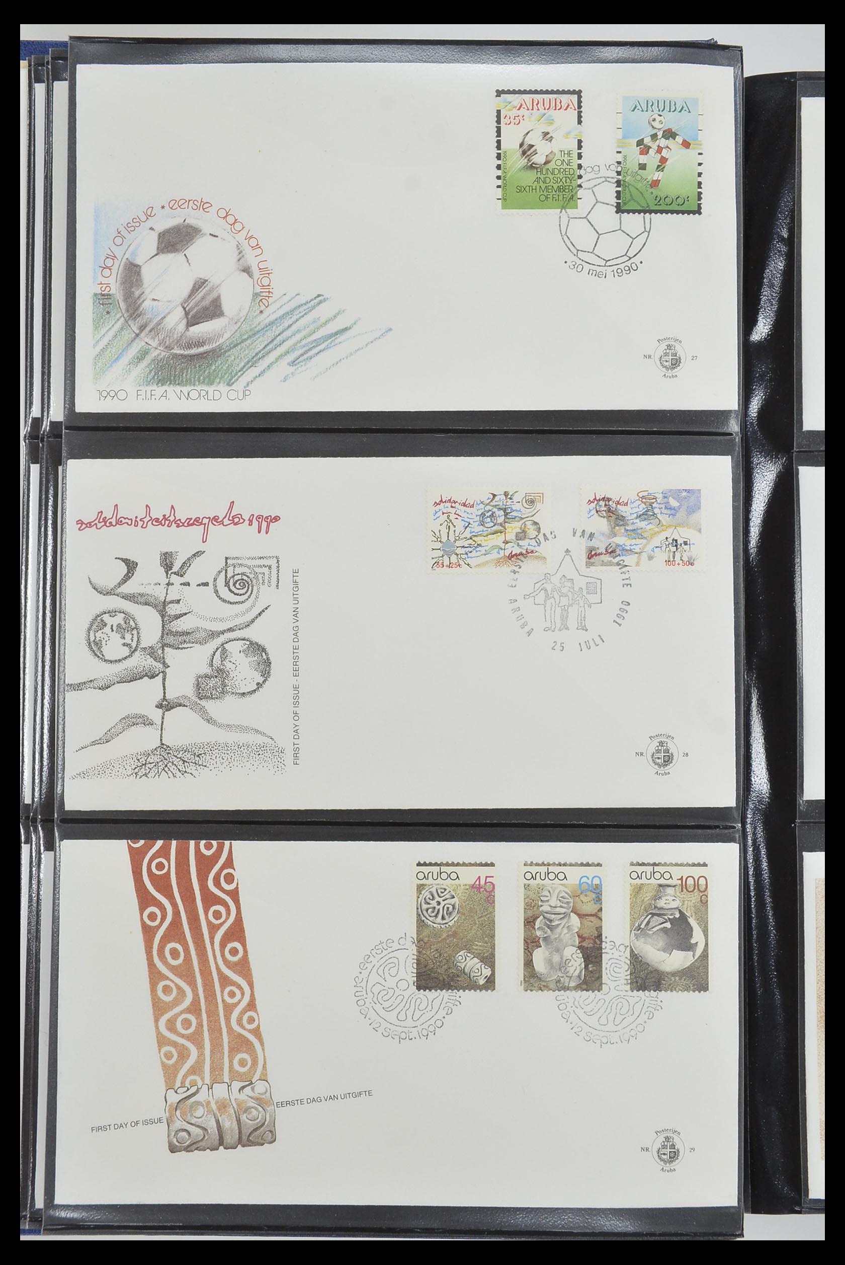 33585 010 - Postzegelverzameling 33585 Aruba FDC's 1986-2006.