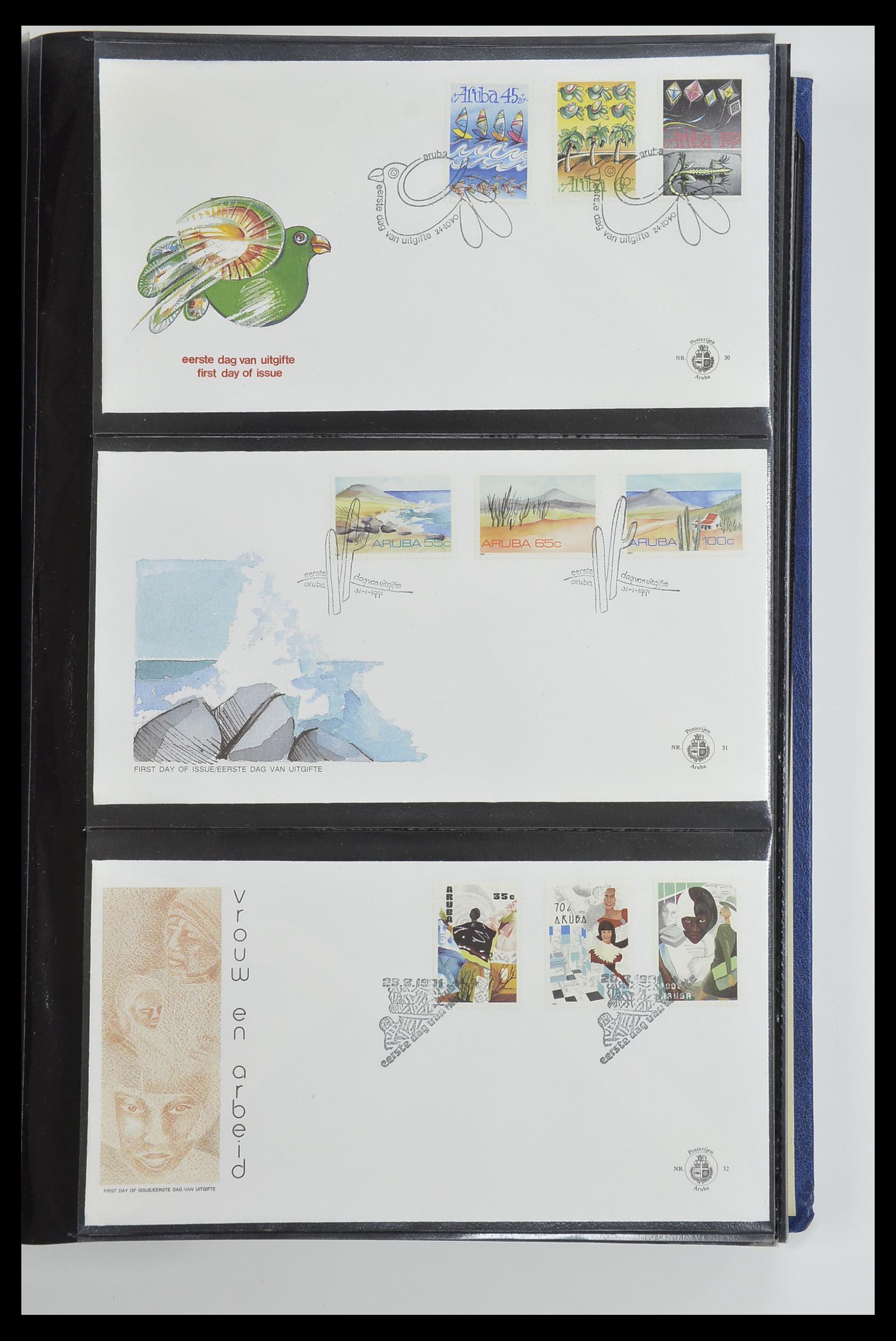 33585 011 - Postzegelverzameling 33585 Aruba FDC's 1986-2006.