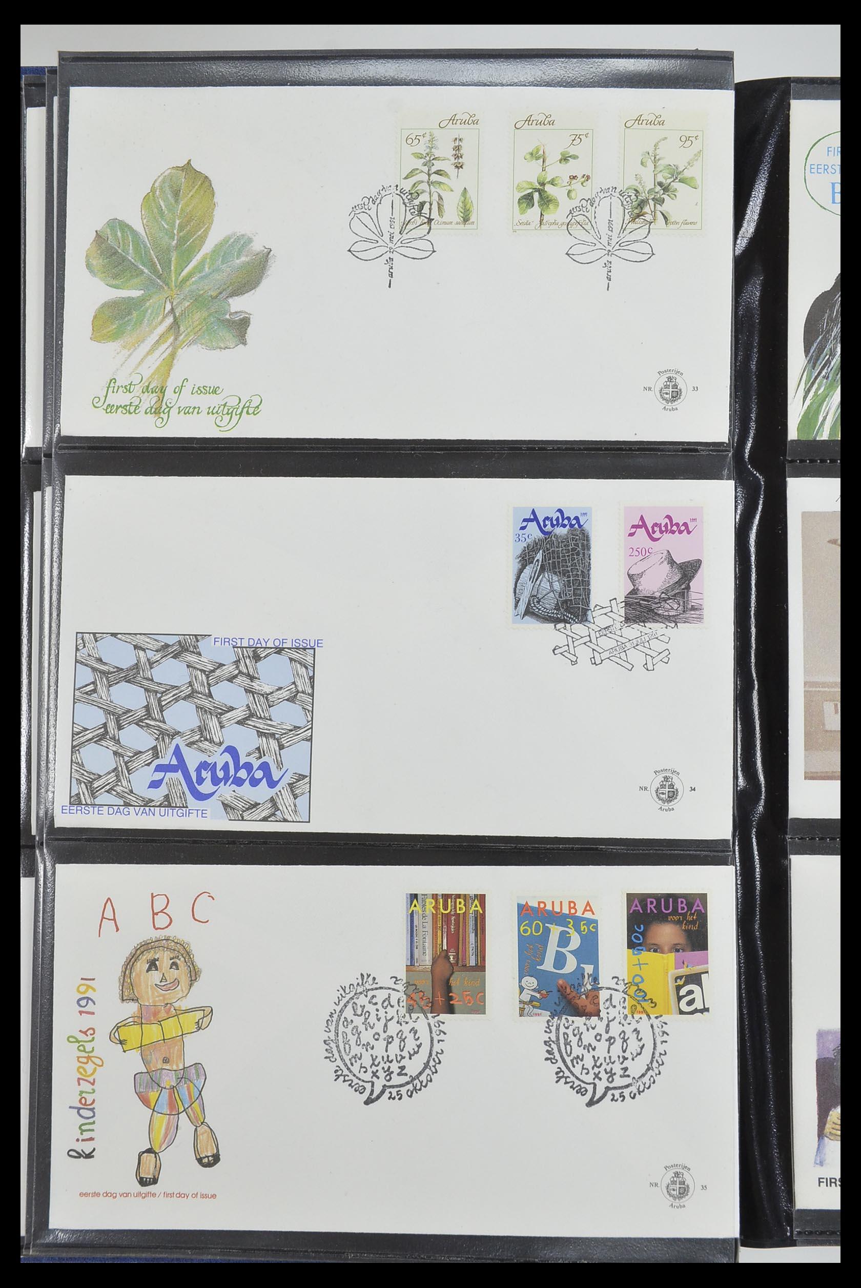 33585 012 - Postzegelverzameling 33585 Aruba FDC's 1986-2006.