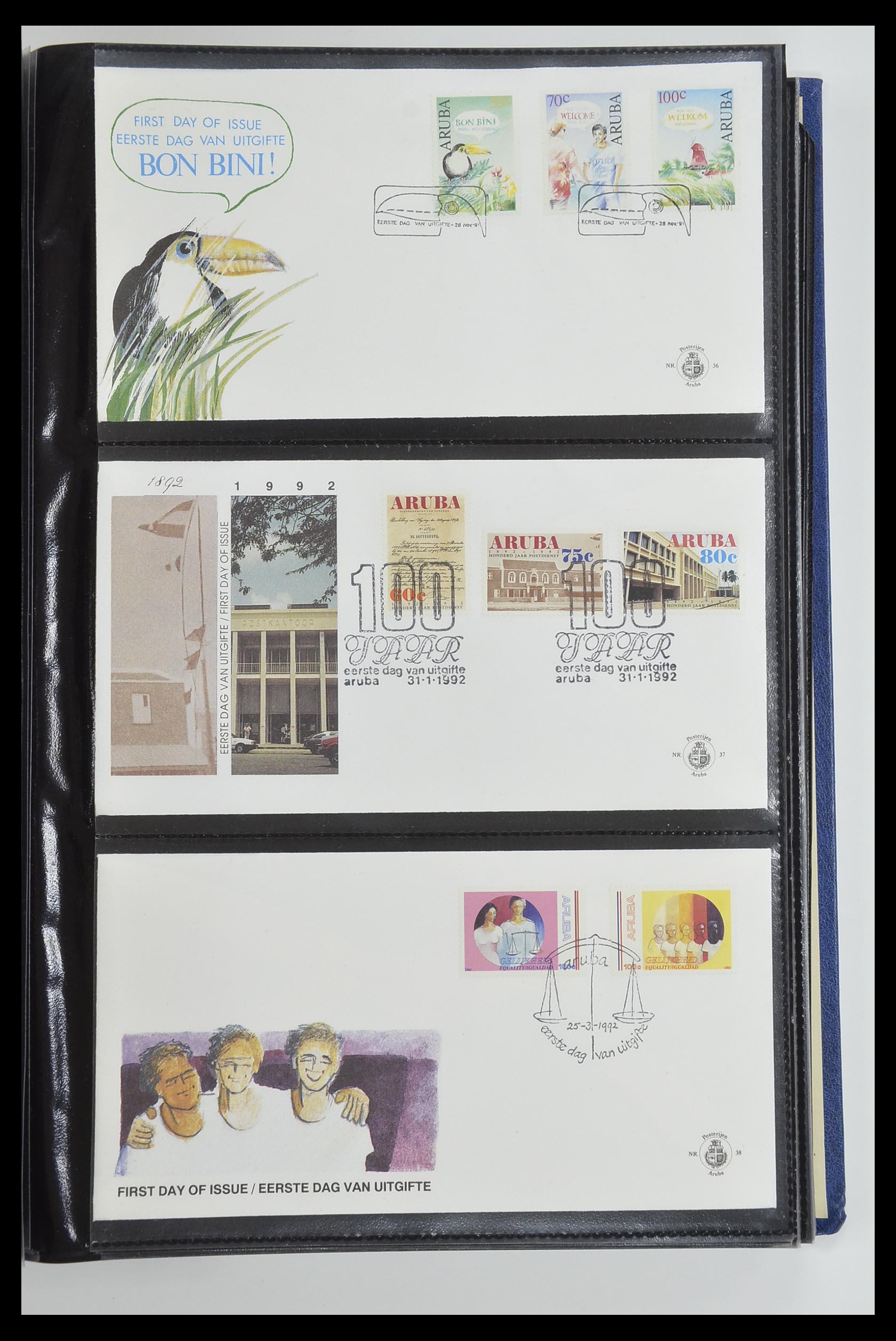 33585 013 - Postzegelverzameling 33585 Aruba FDC's 1986-2006.