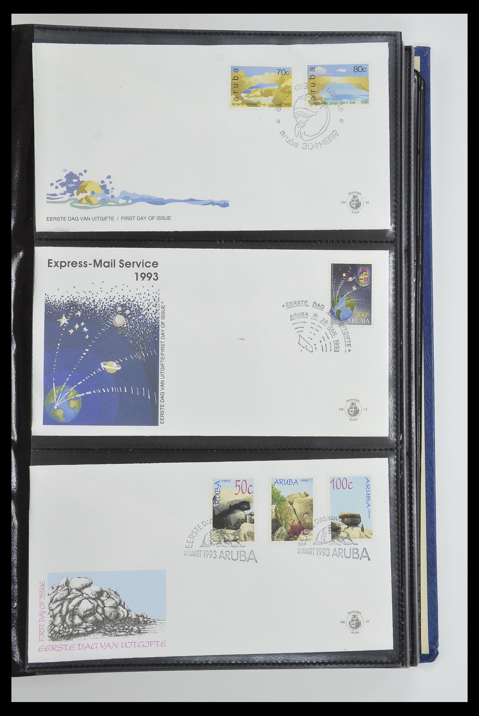 33585 015 - Postzegelverzameling 33585 Aruba FDC's 1986-2006.