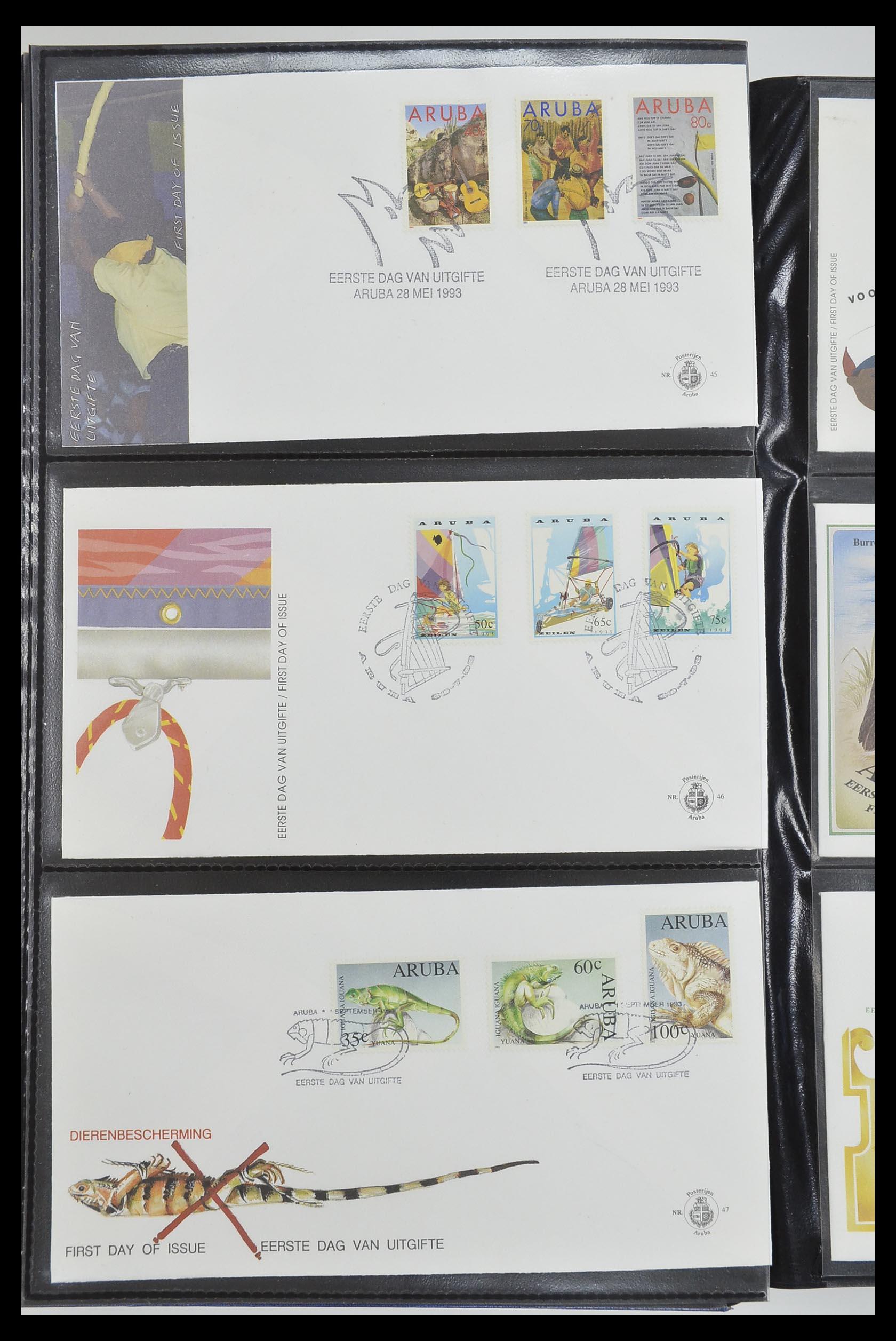 33585 016 - Postzegelverzameling 33585 Aruba FDC's 1986-2006.