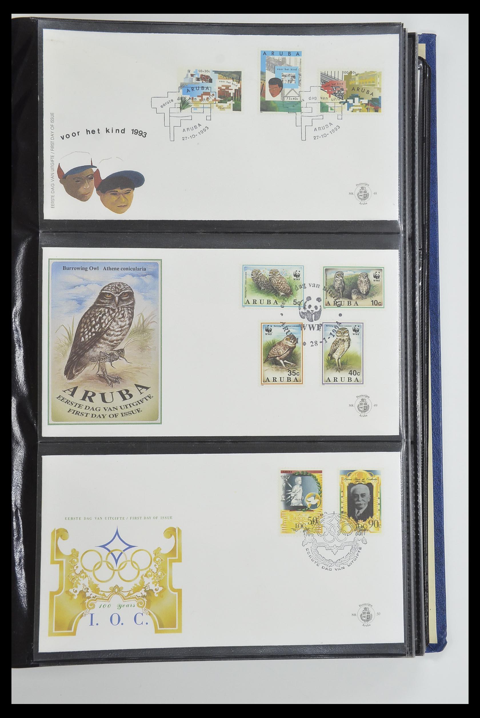 33585 017 - Postzegelverzameling 33585 Aruba FDC's 1986-2006.