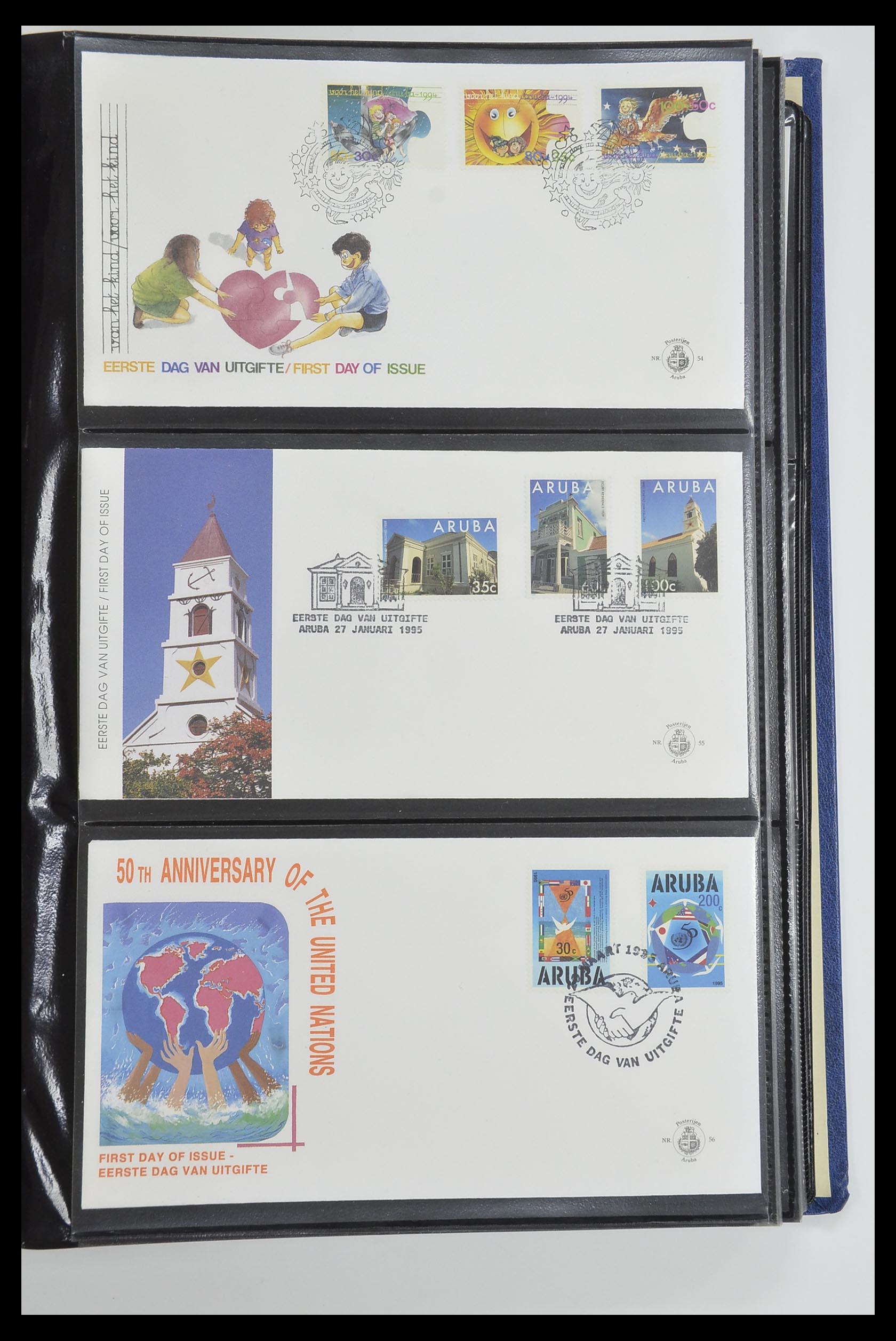 33585 019 - Postzegelverzameling 33585 Aruba FDC's 1986-2006.