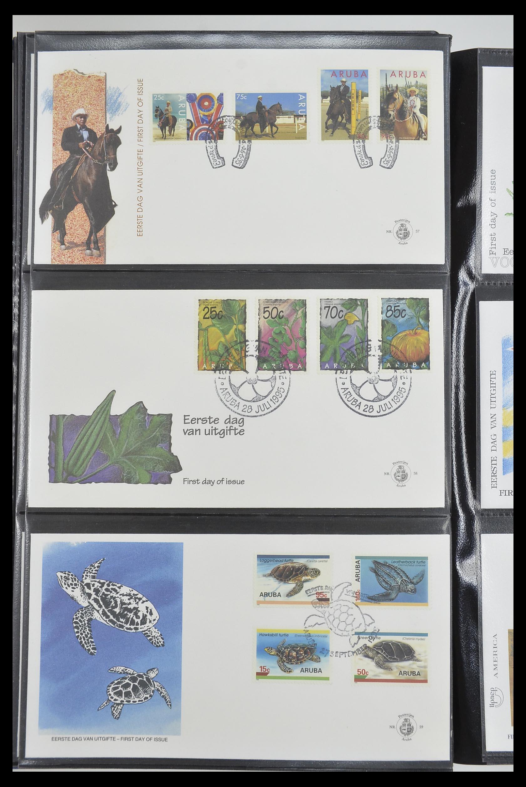 33585 020 - Postzegelverzameling 33585 Aruba FDC's 1986-2006.