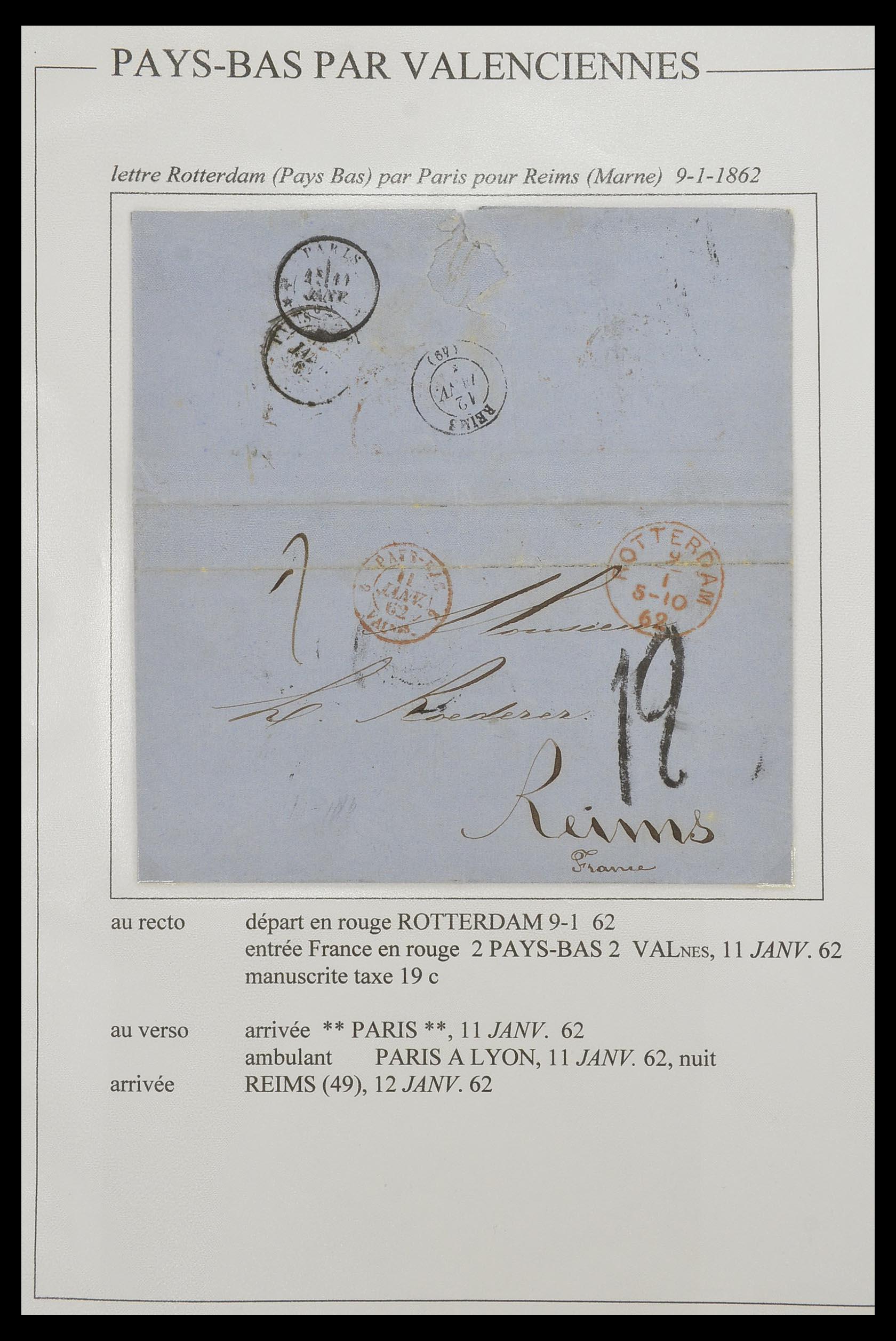 33624 001 - Postzegelverzameling 33624 Frankrijk brieven 1854-1907.